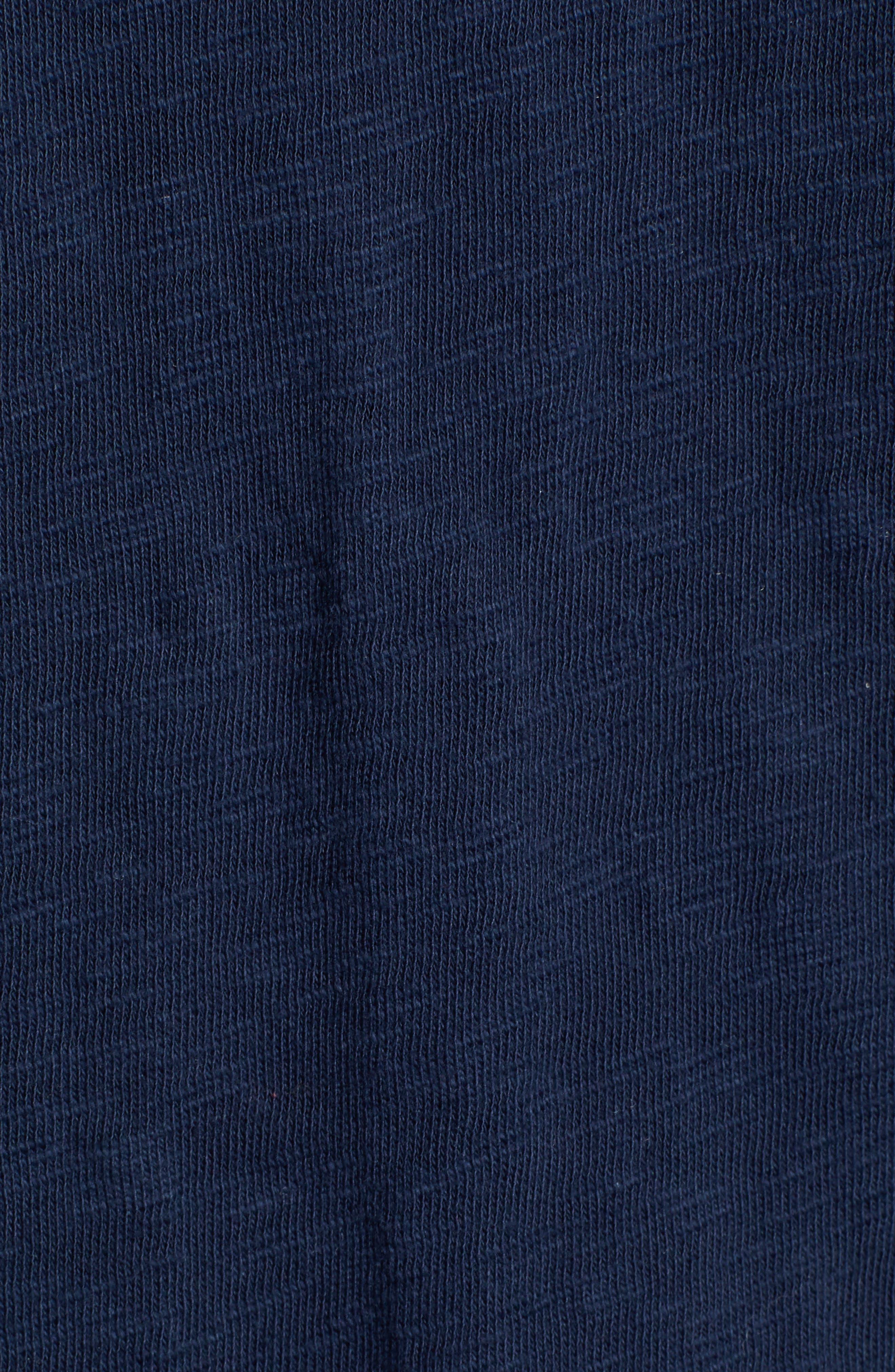 Stinson Hooded Long Sleeve Henley,                             Alternate thumbnail 5, color,                             NAVY