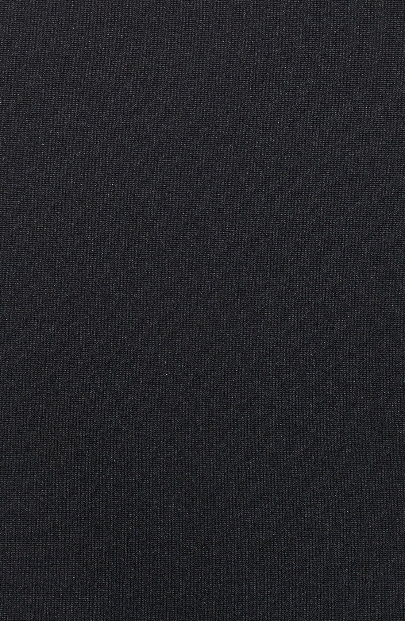 Performance Tech Long Sleeve Shirt,                             Alternate thumbnail 5, color,                             BLACK/ STEEL