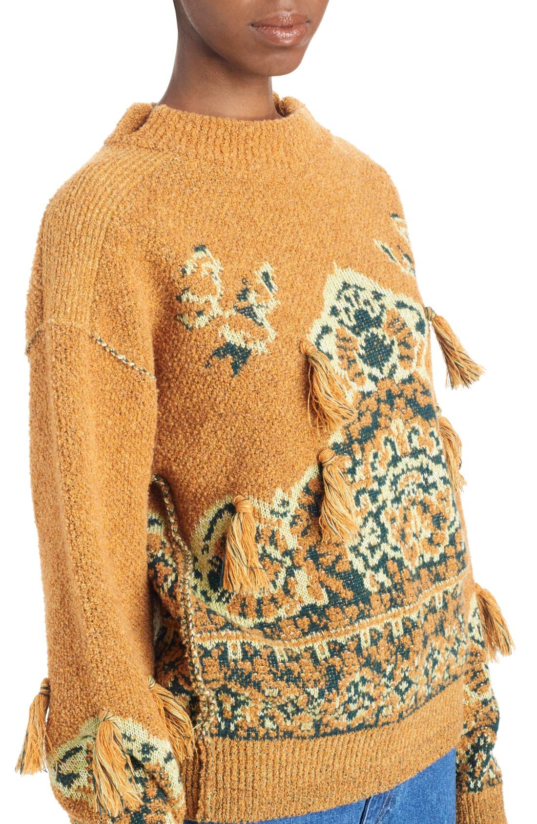 Tassel Wool Blend Sweater,                             Alternate thumbnail 5, color,                             700