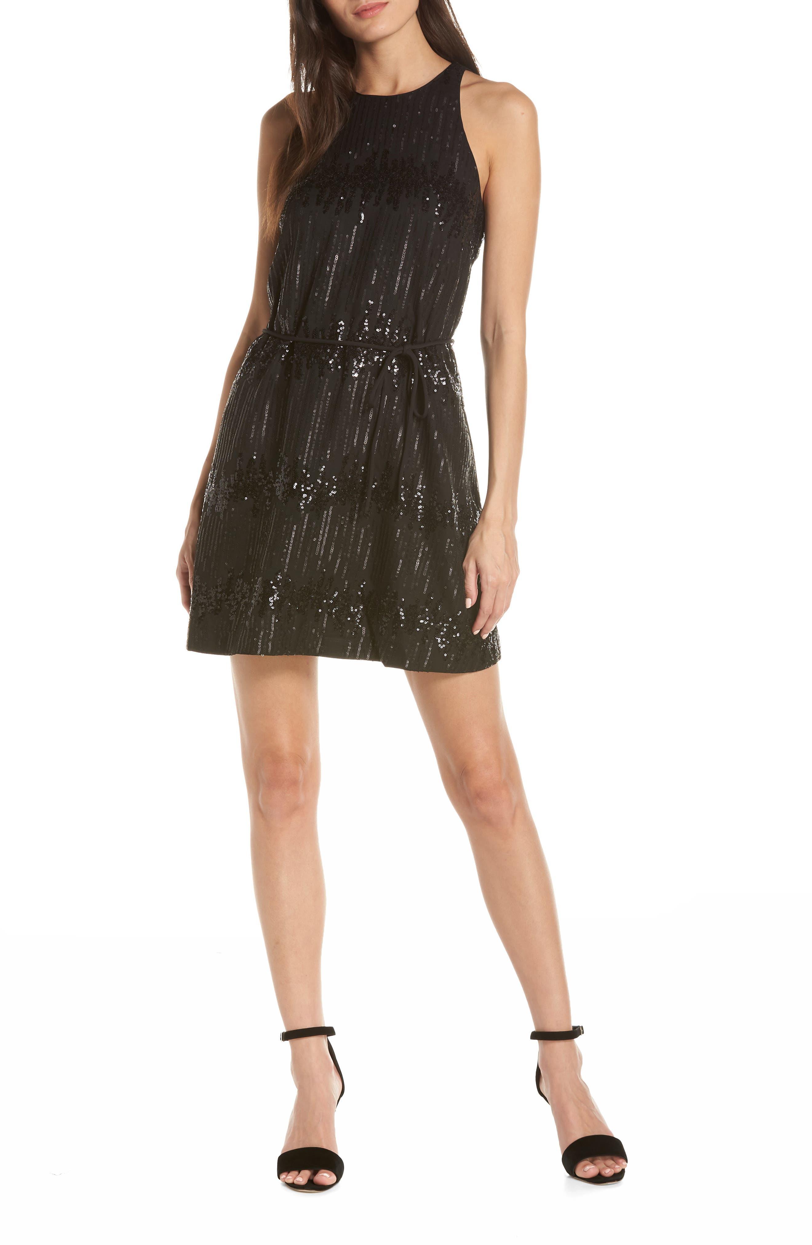 Ali & Jay Bubbly Sequin Minidress, Black