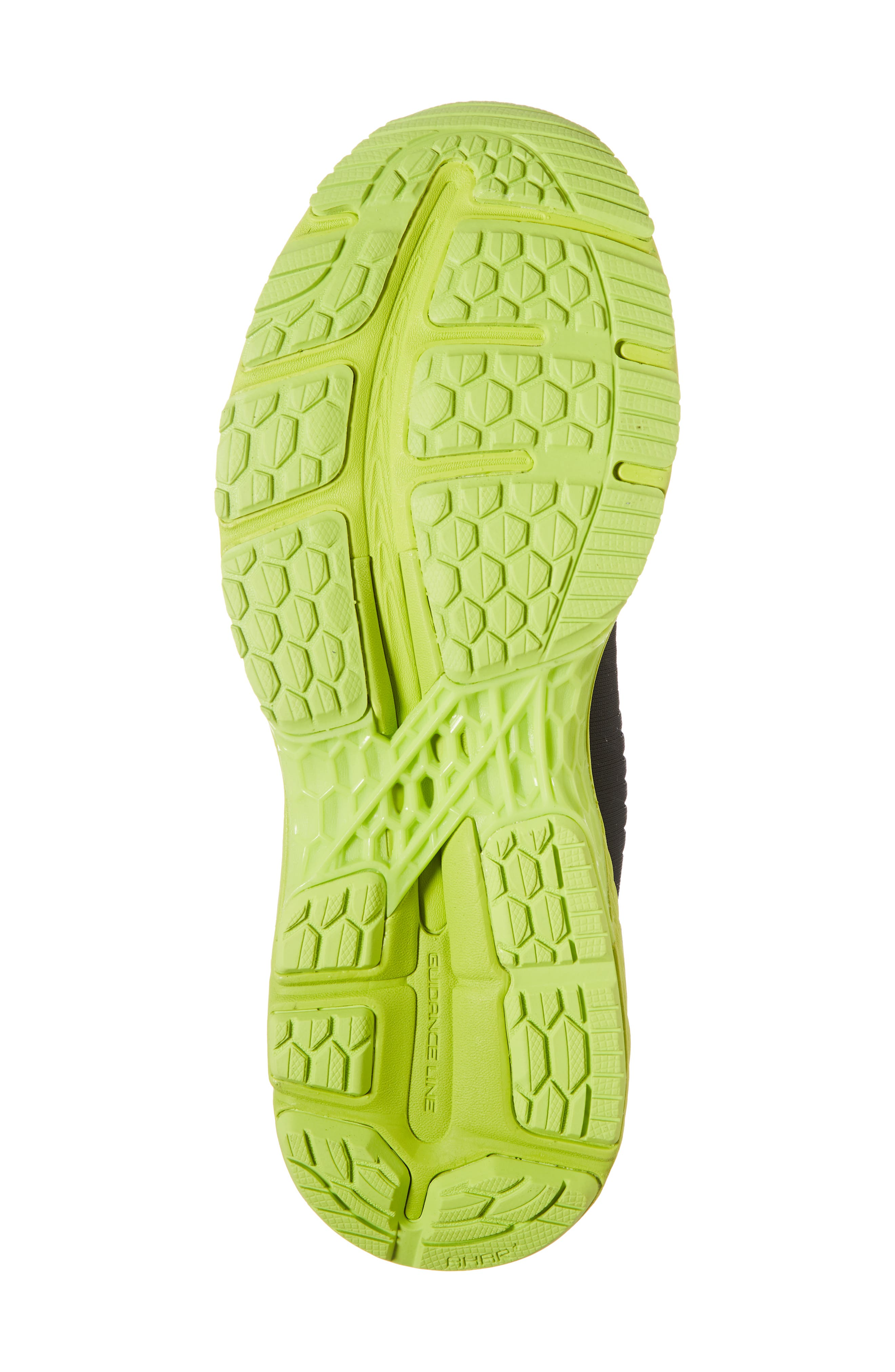 GEL-Kayano<sup>®</sup> 25 Running Shoe,                             Alternate thumbnail 6, color,                             BLACK/ NEON LIME
