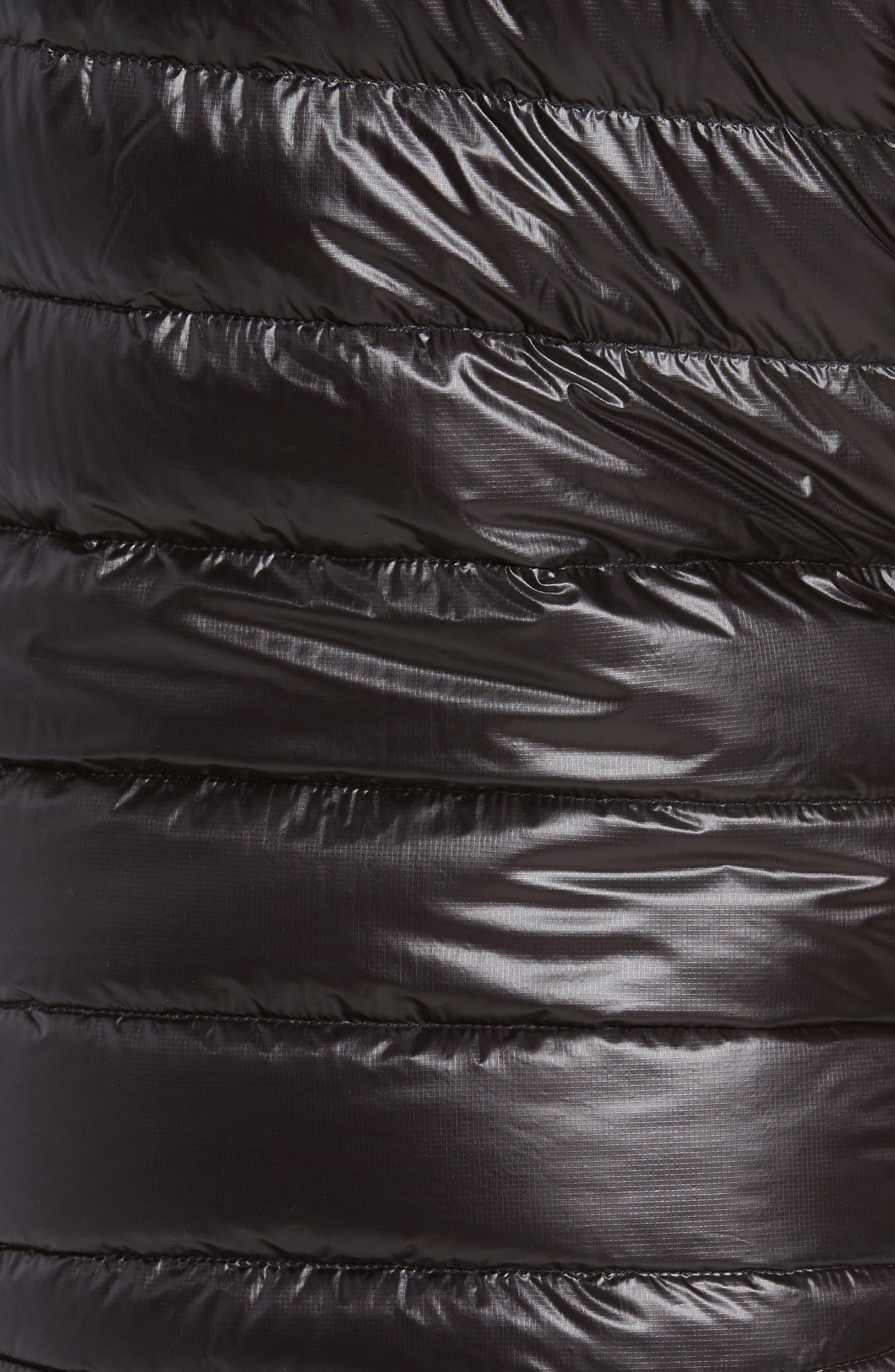 'Hybridge<sup>™</sup> Lite' Slim Fit Packable Quilted 800-Fill Down Vest,                             Alternate thumbnail 6, color,                             BLACK/ GRAPHITE