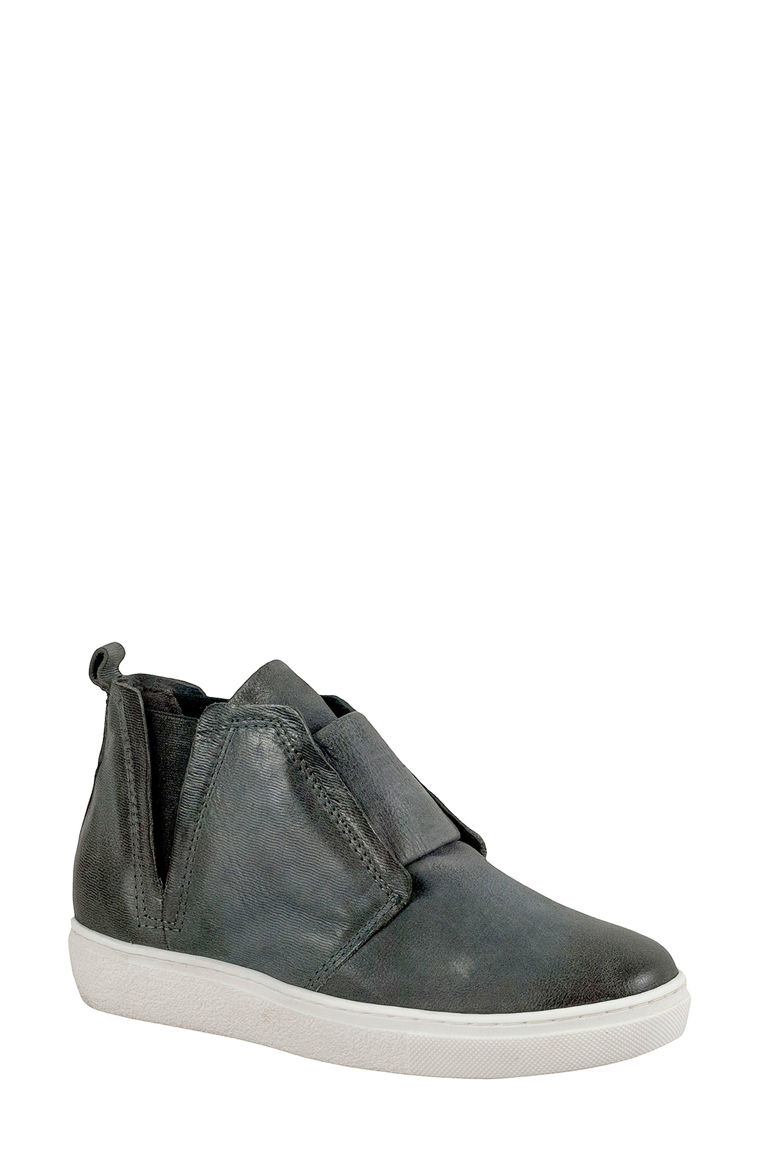 Laurent High Top Sneaker,                         Main,                         color, GRANITE LEATHER