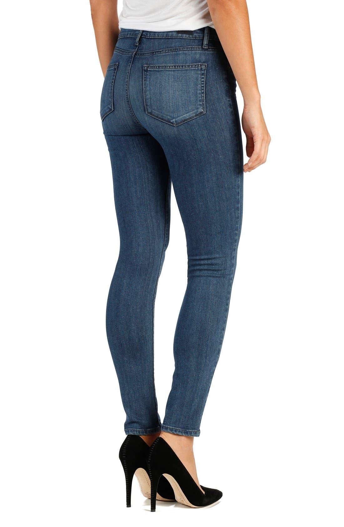 'Transcend - Hoxton' High Rise Ankle Peg Skinny Jeans,                             Alternate thumbnail 2, color,                             400