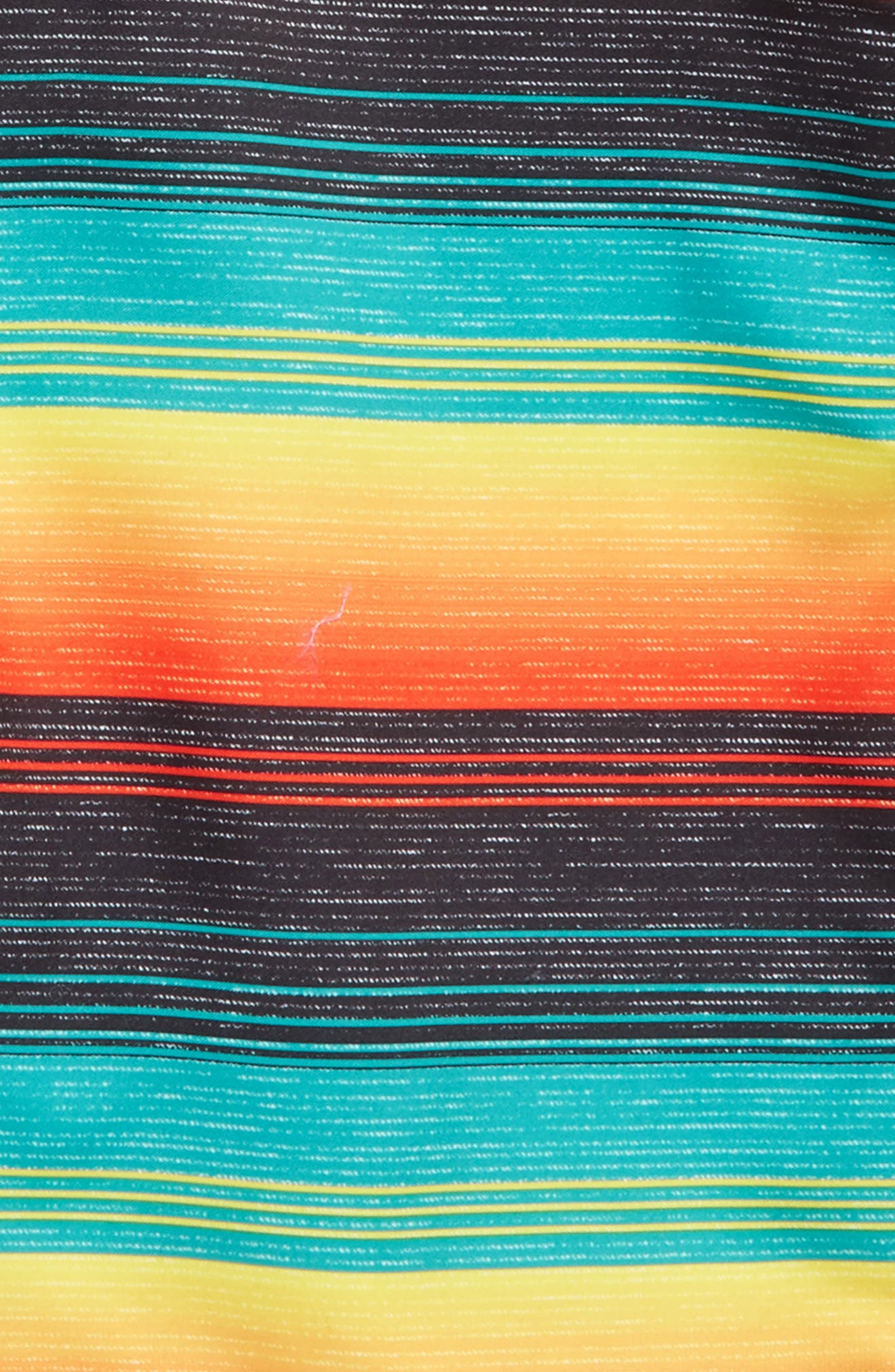 O'NEILL,                             Santa Cruz Stripe Board Shorts,                             Alternate thumbnail 2, color,                             001