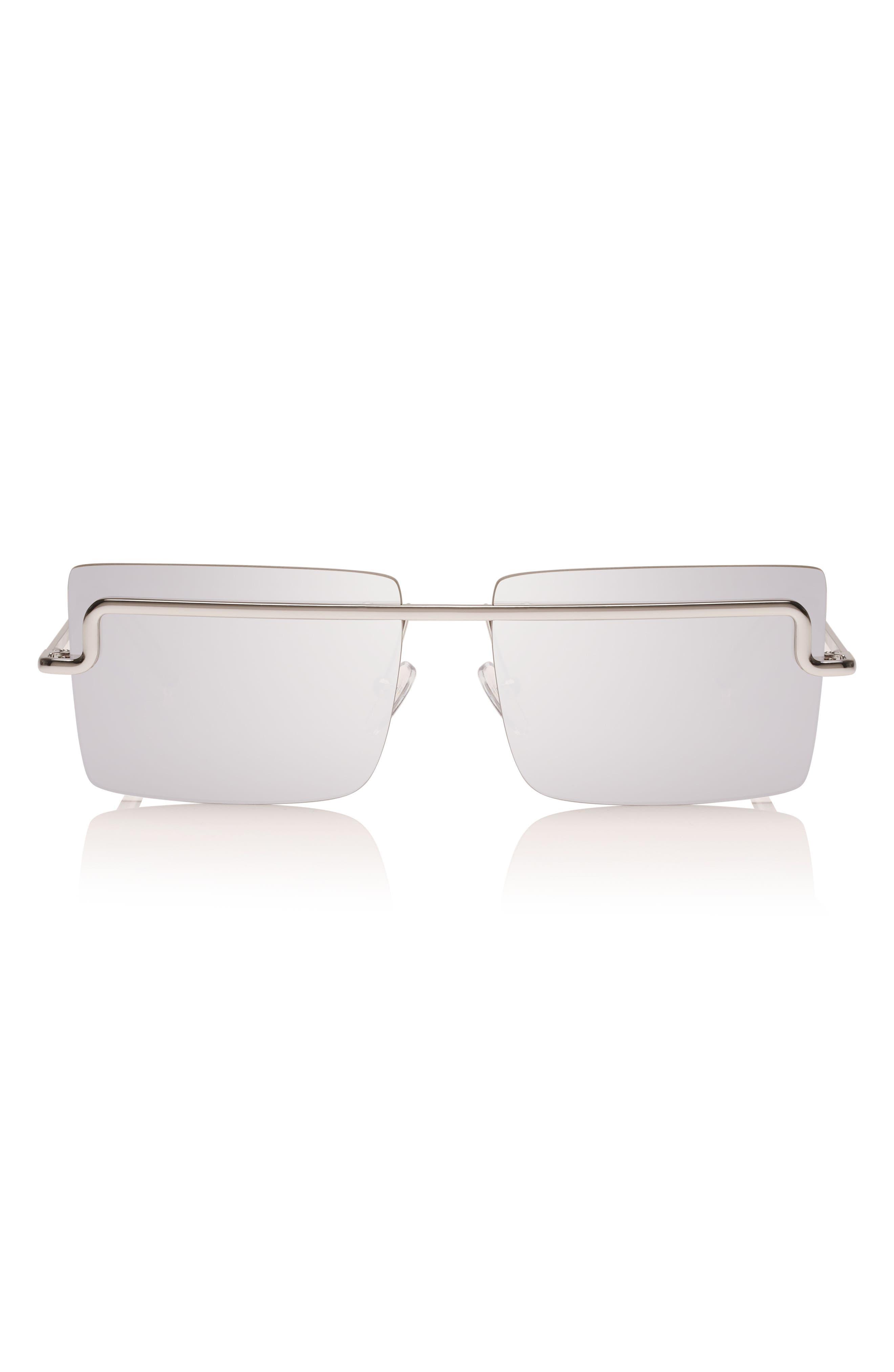 The International 58mm Sunglasses,                         Main,                         color, SILVER/ SILVER MONO
