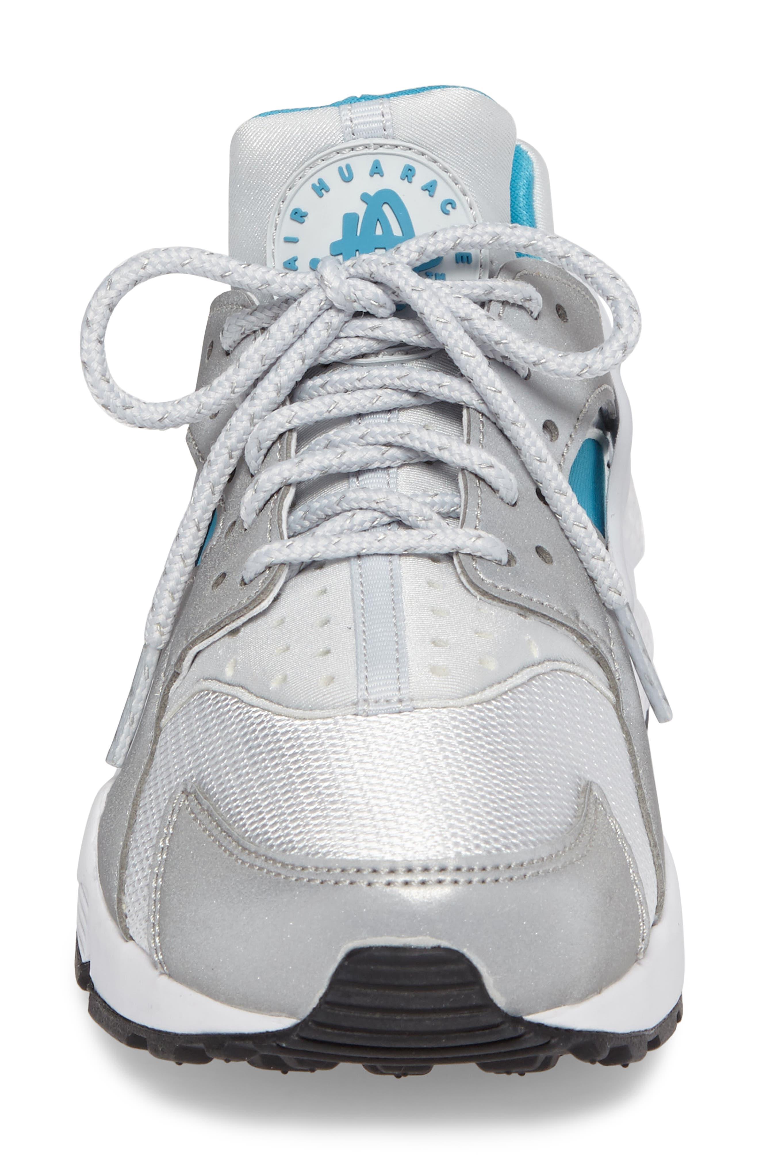 Air Huarache Run QS Sneaker,                             Alternate thumbnail 4, color,