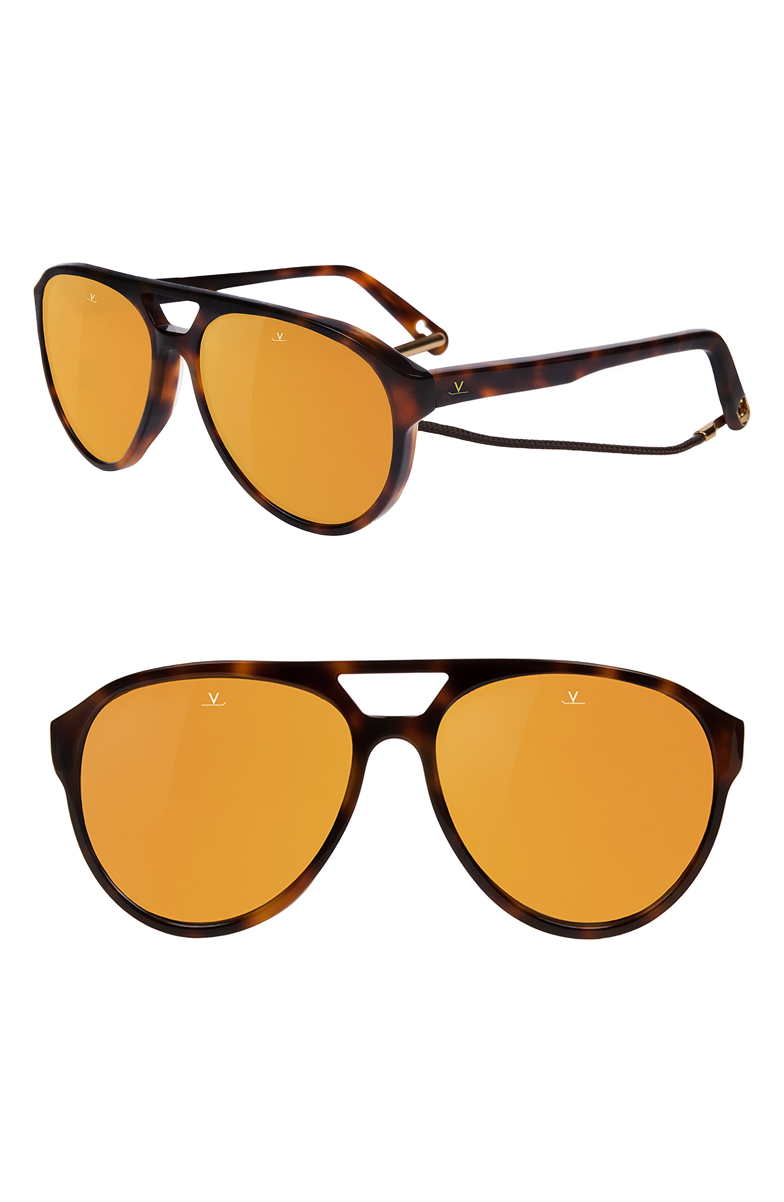 Tom 64mm Aviator Sunglasses,                             Main thumbnail 1, color,                             202