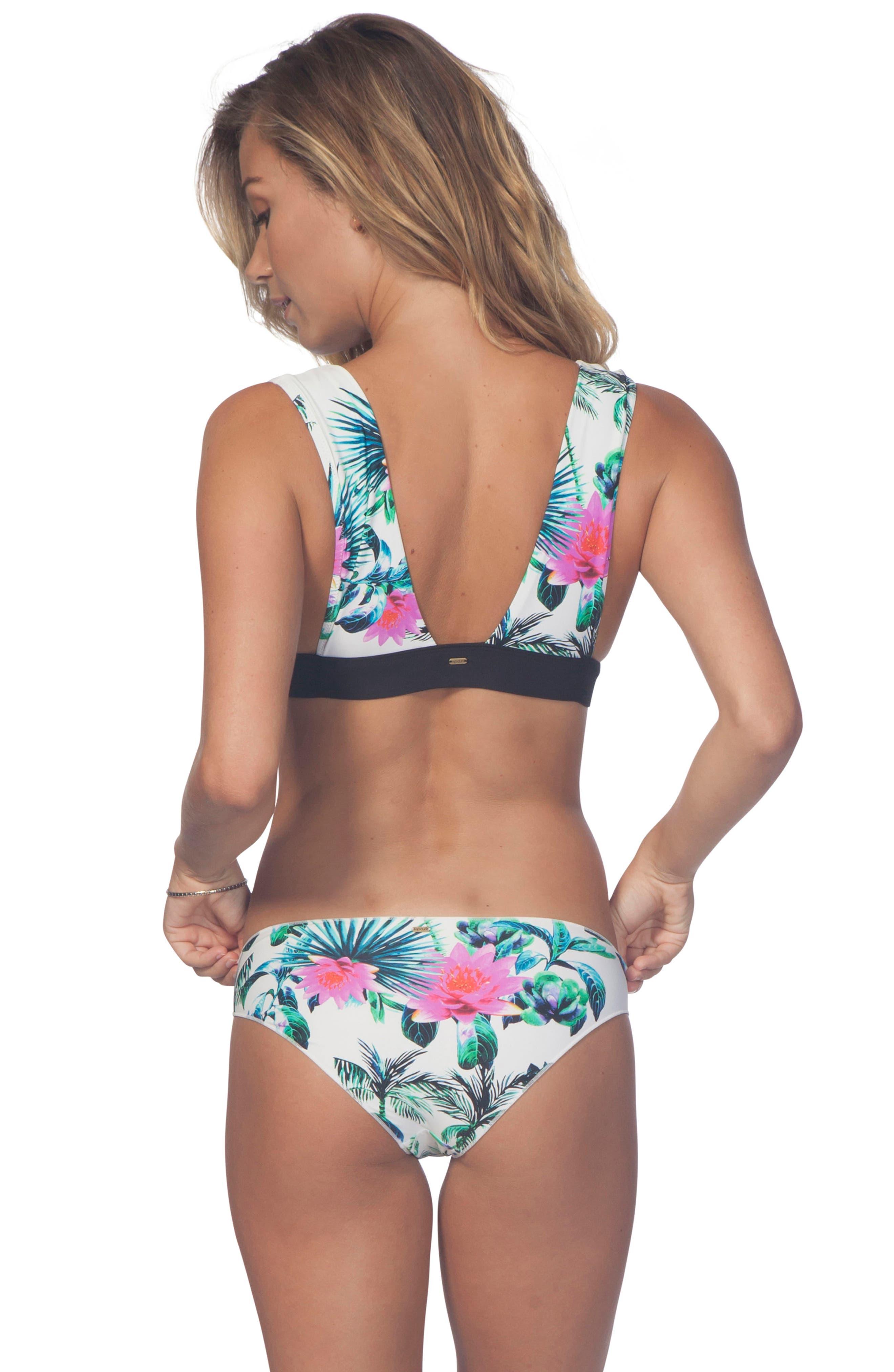 Palms Away Hipster Bikini Bottoms,                             Alternate thumbnail 3, color,                             100