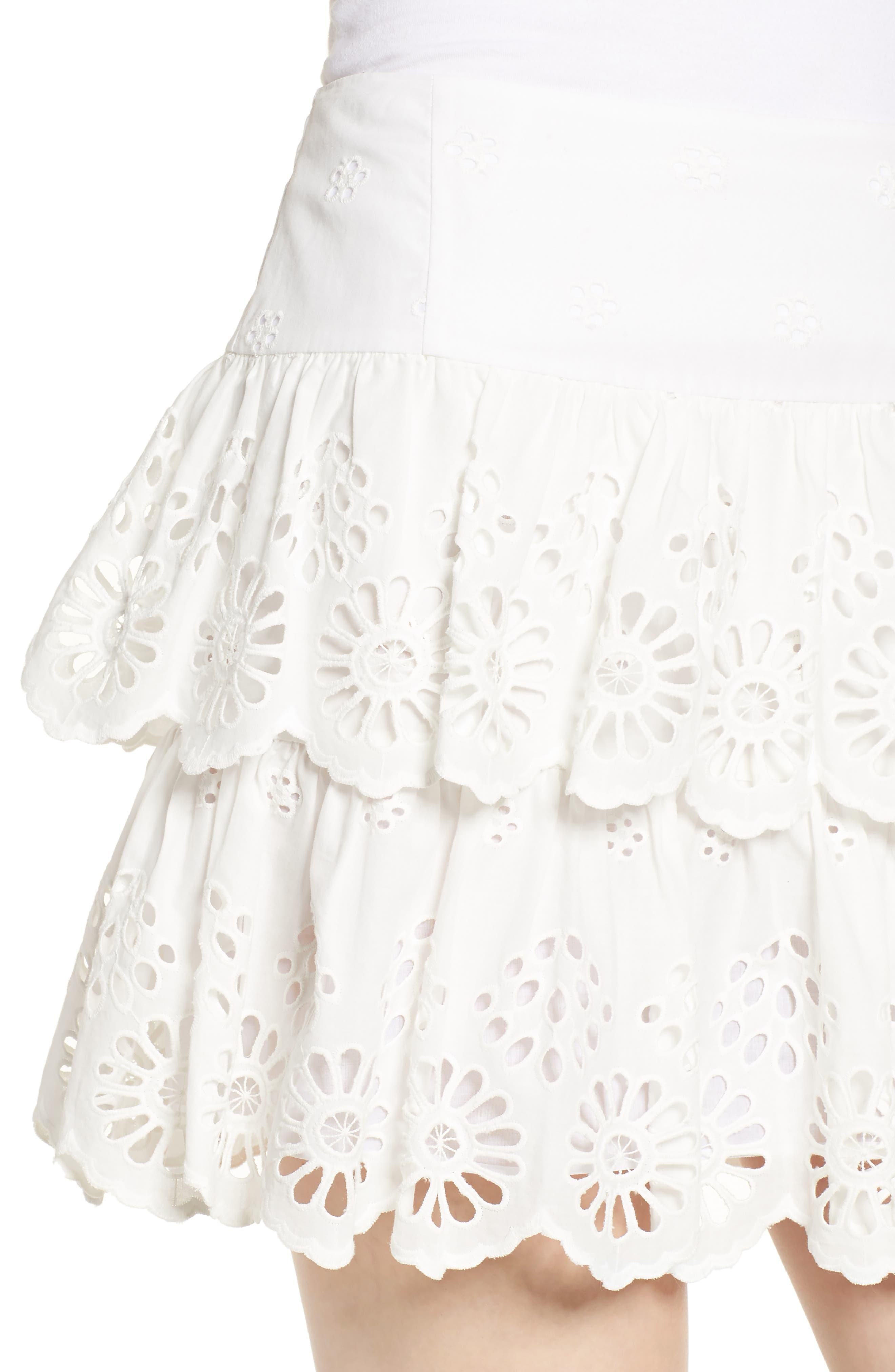 Nell Skirt,                             Alternate thumbnail 4, color,                             WHITE