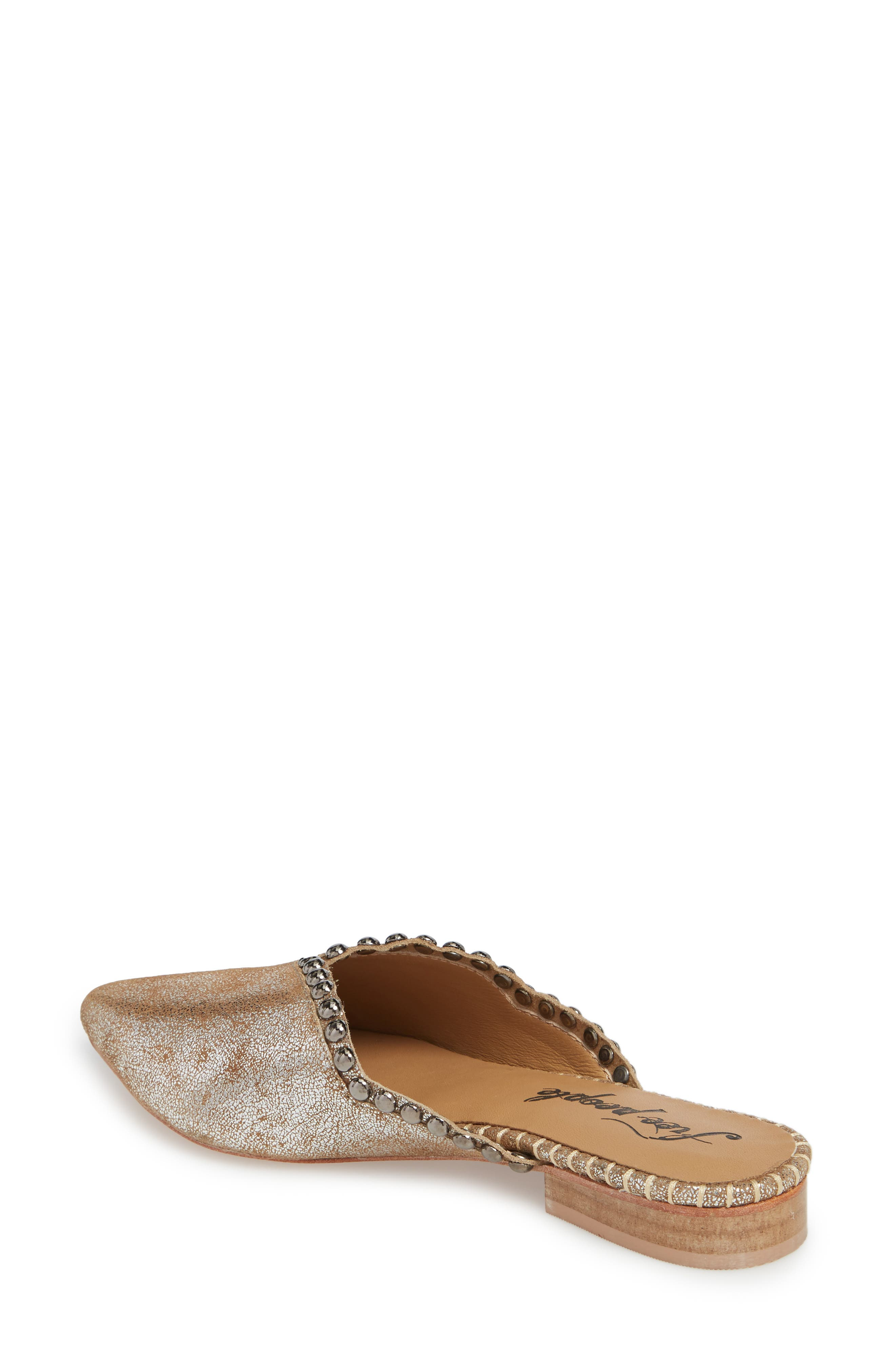 Newport Studded Mule,                             Alternate thumbnail 2, color,                             SILVER