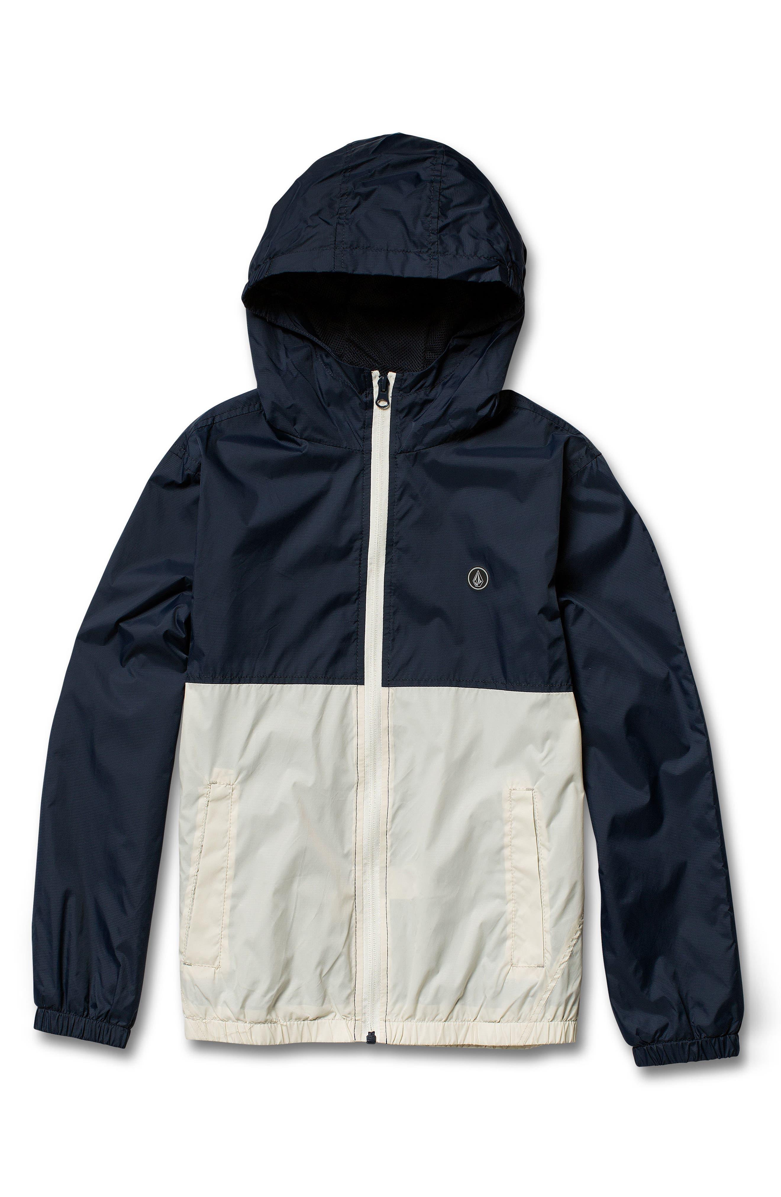 Ermont Hooded Nylon Jacket,                         Main,                         color, MELINDIGO