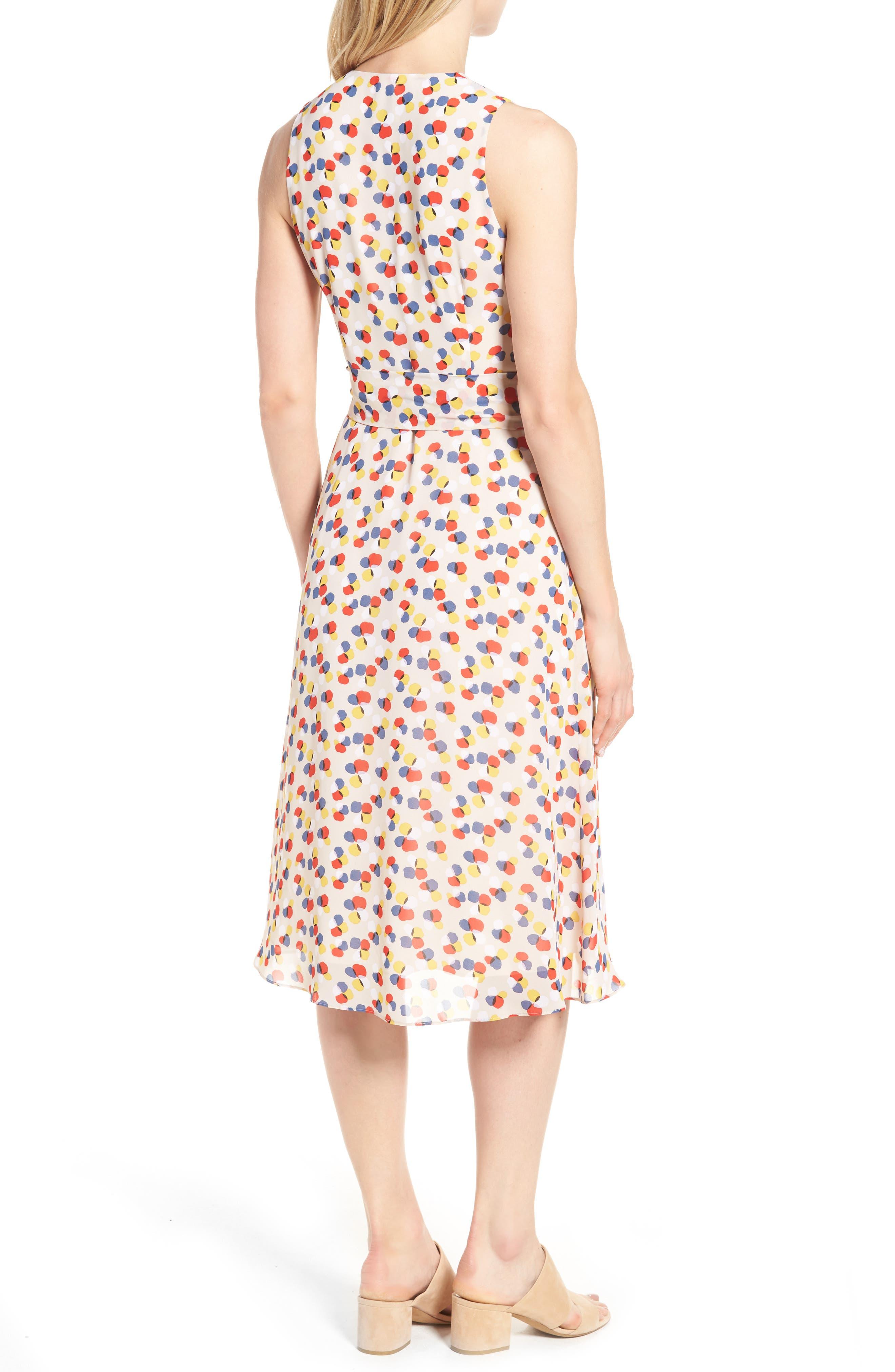 Print Chiffon Dress,                             Alternate thumbnail 2, color,                             250