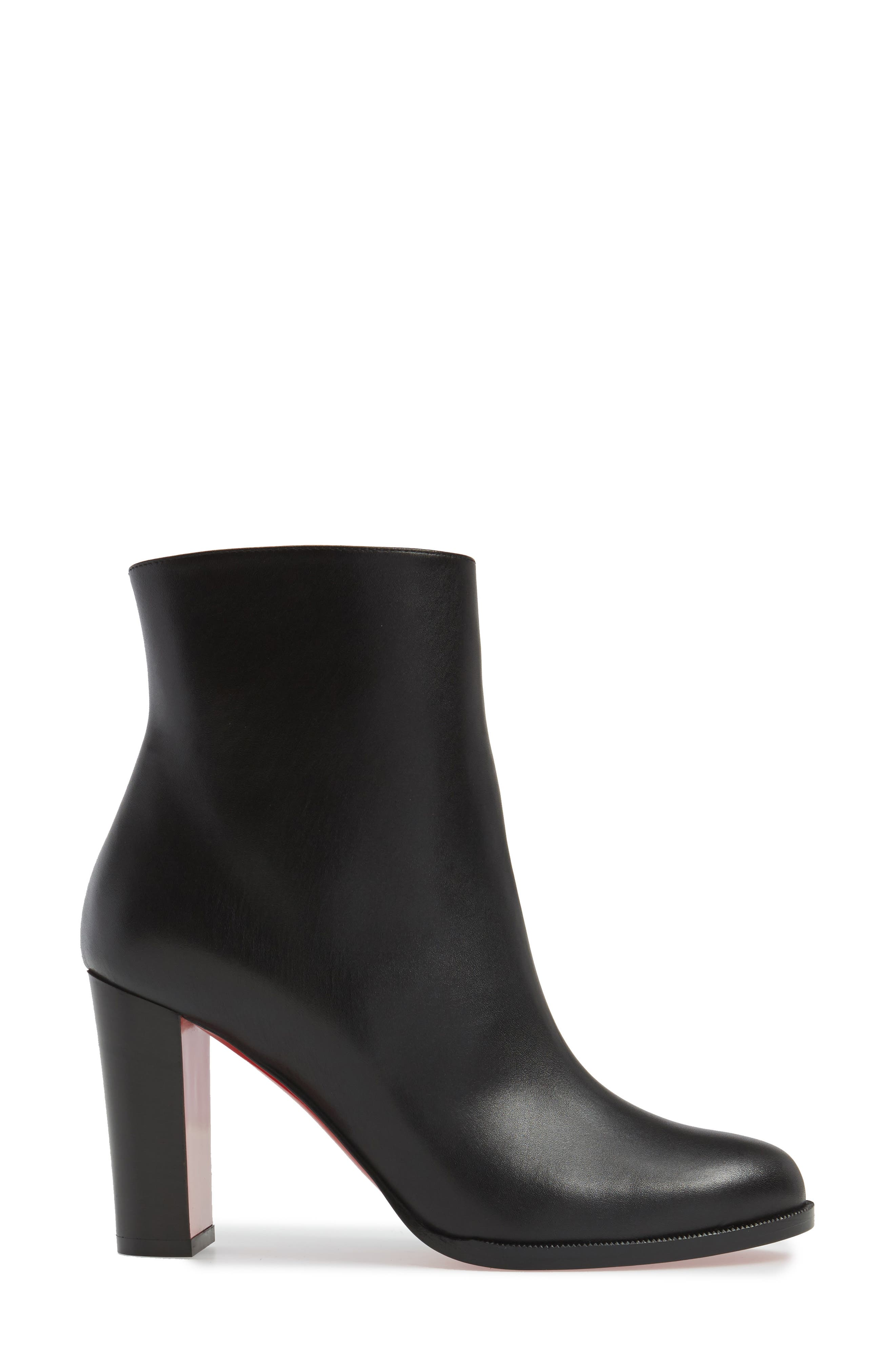 CHRISTIAN LOUBOUTIN,                             Adox Boot,                             Alternate thumbnail 3, color,                             BLACK LEATHER