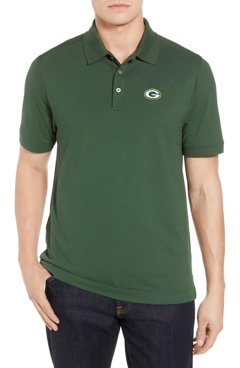 Cutter Buck Green Bay Packers Advantage Regular Fit Drytec Polo