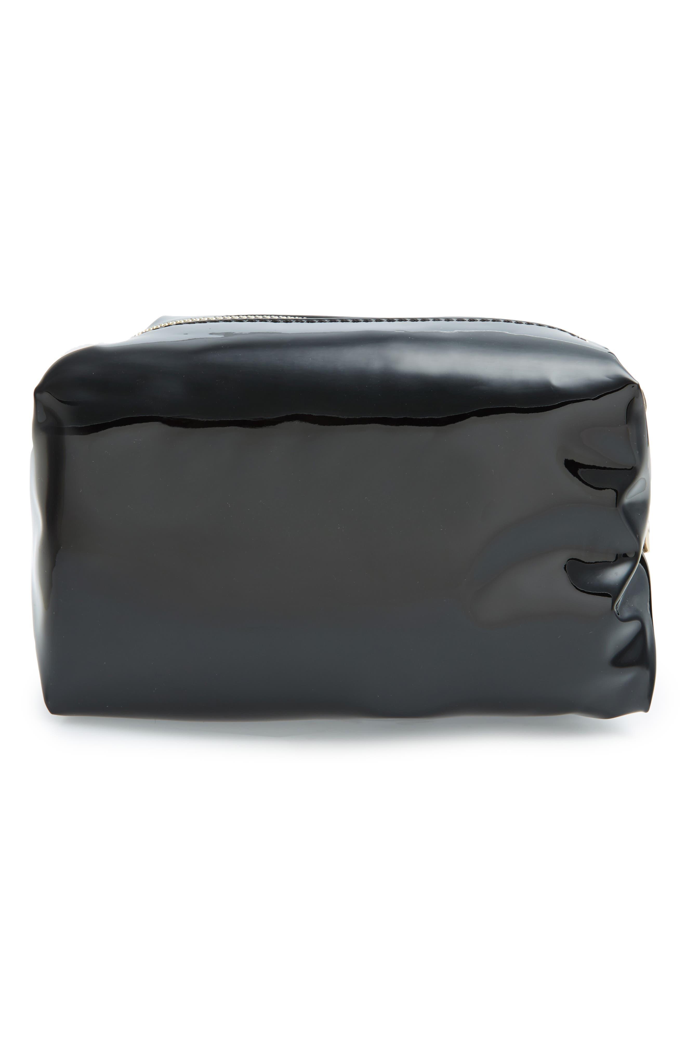 Metallic Cosmetics Bag,                             Alternate thumbnail 2, color,                             001