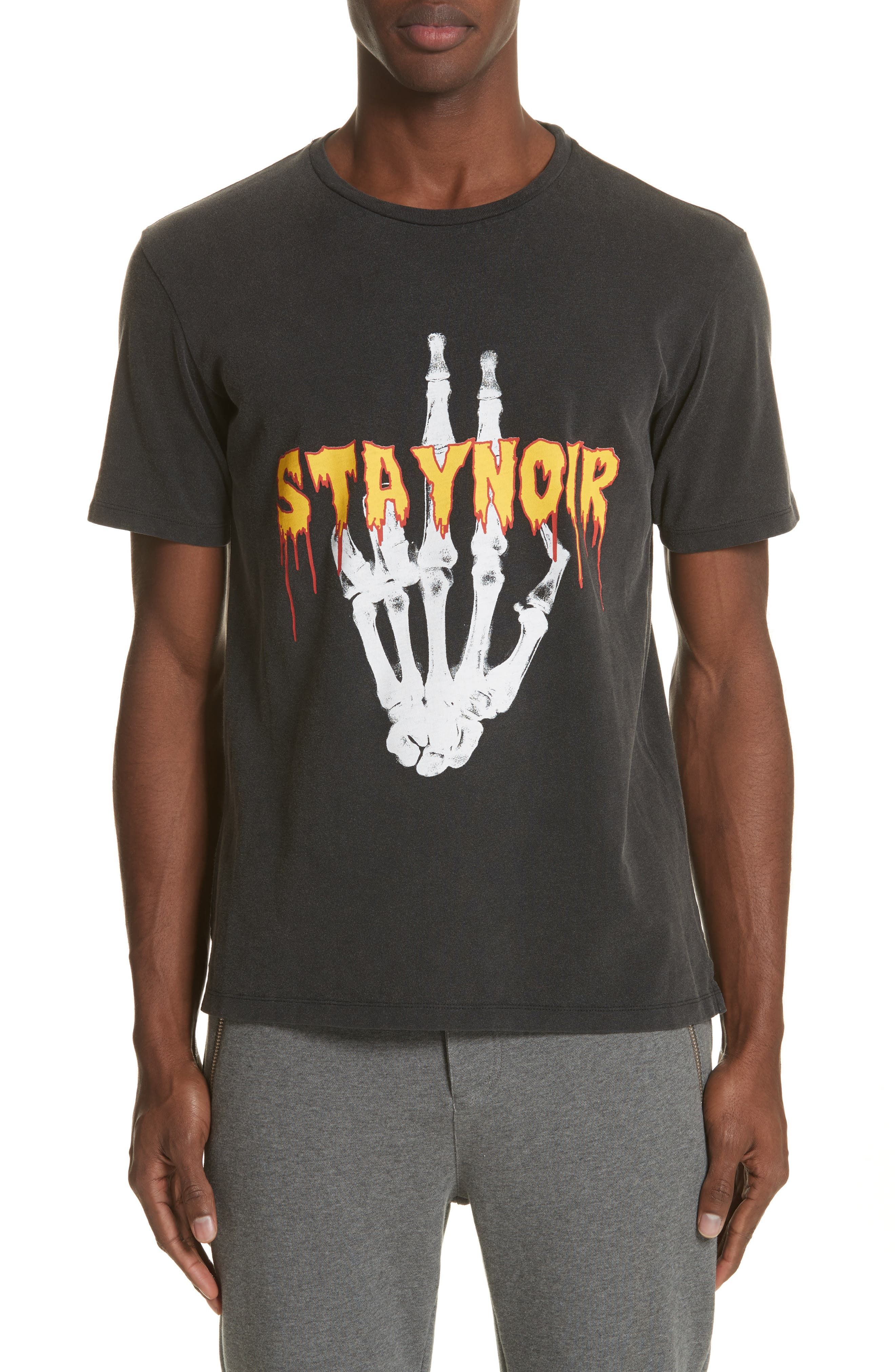 Skeleton Hand Graphic T-Shirt,                             Main thumbnail 1, color,                             001