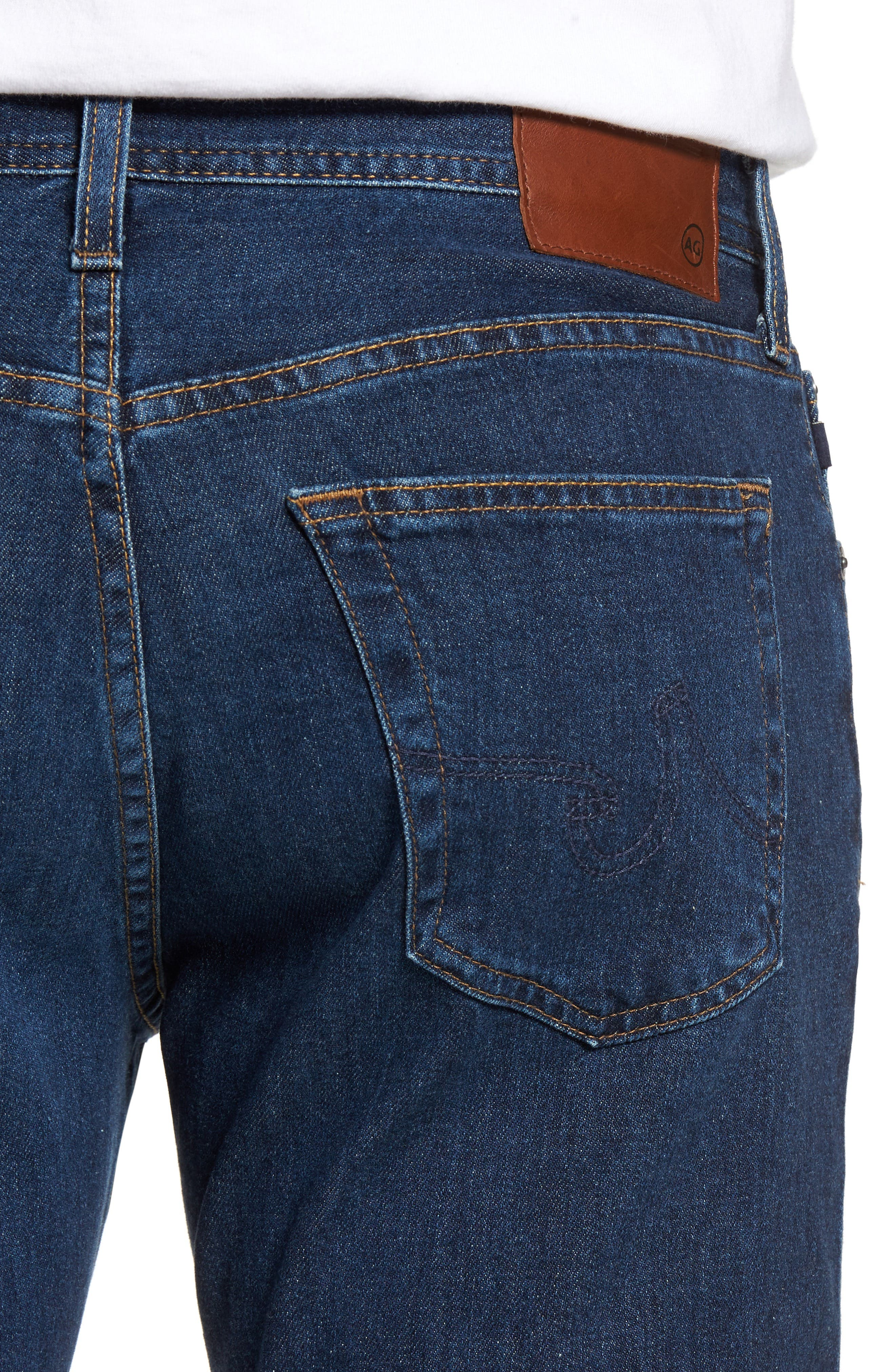Graduate Slim Straight Leg Jeans,                             Alternate thumbnail 4, color,                             435