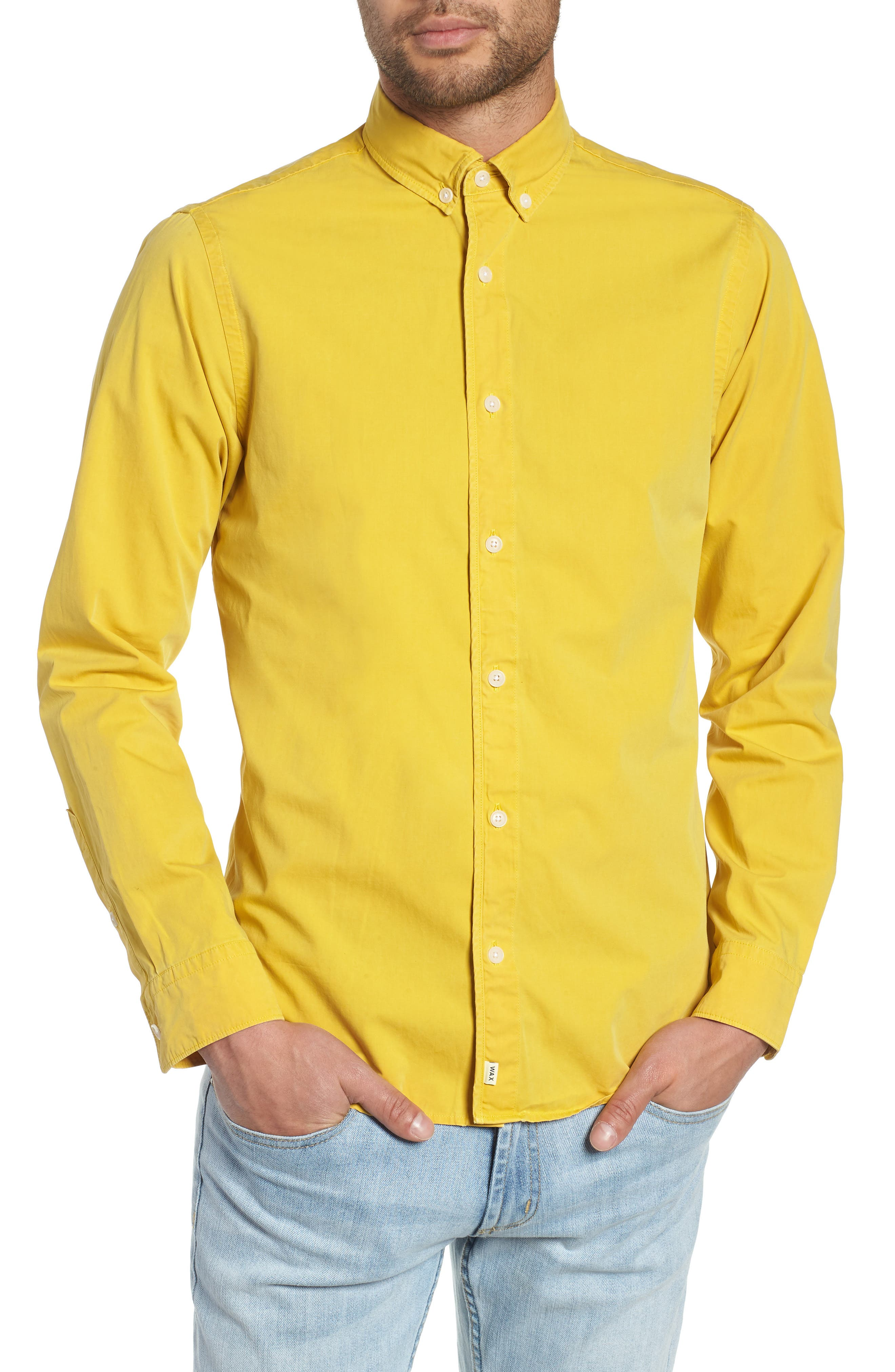Bampton Solid Sport Shirt,                             Main thumbnail 1, color,                             LEMON