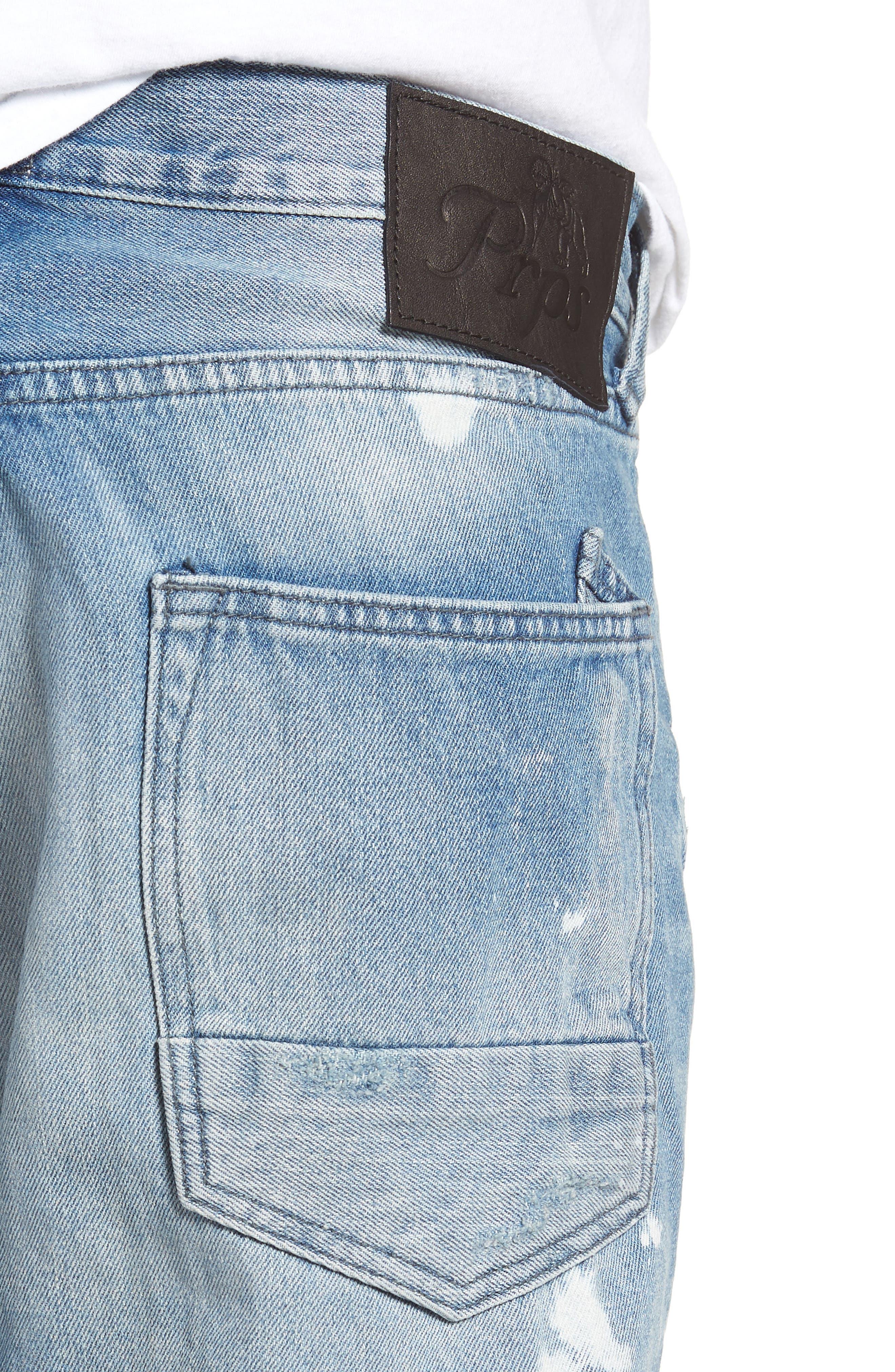 PRPS,                             Le Sabre Slim Fit Jeans,                             Alternate thumbnail 4, color,                             TAWDRY