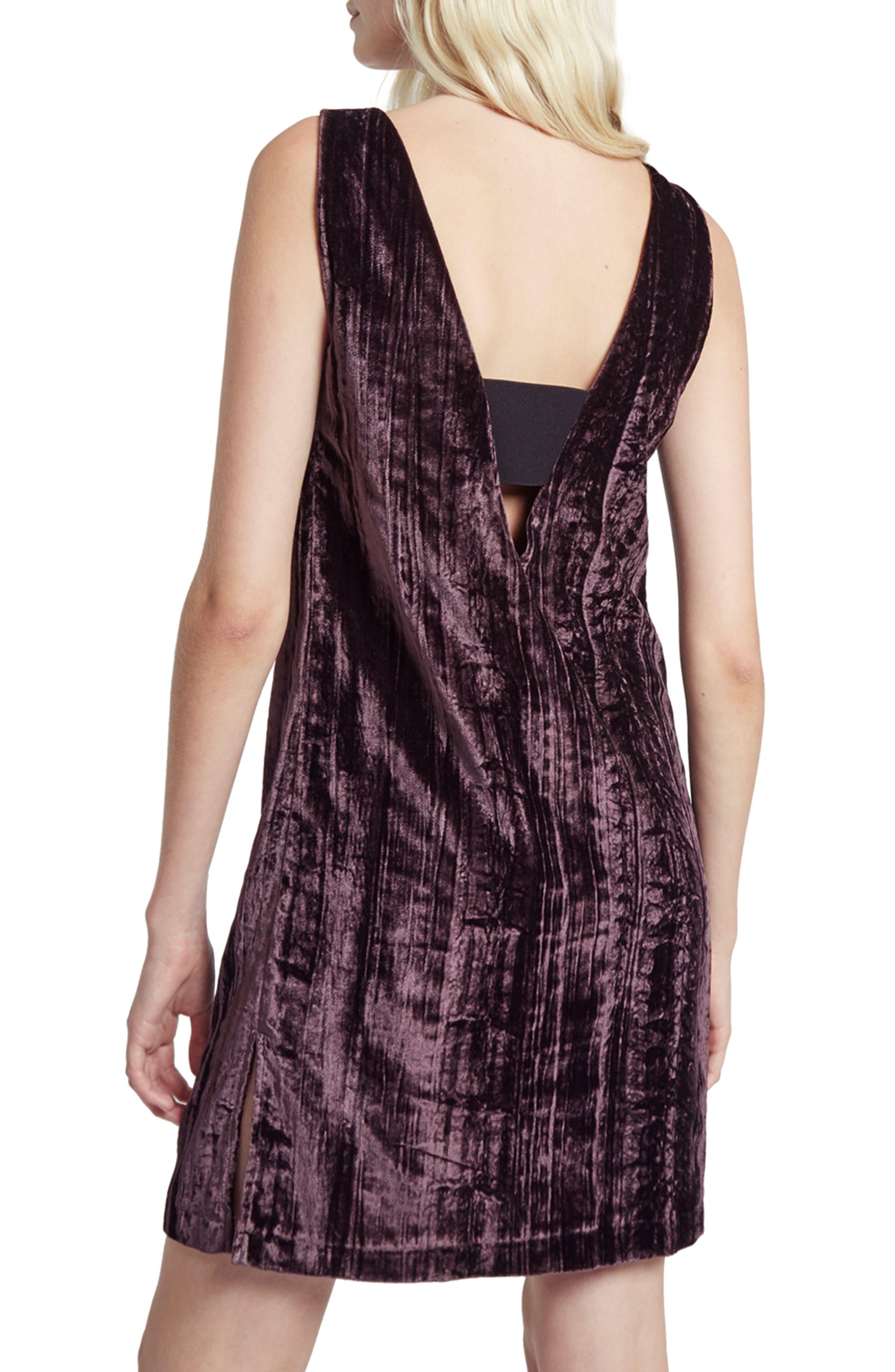Theresa Velvet Shift Dress,                             Alternate thumbnail 6, color,