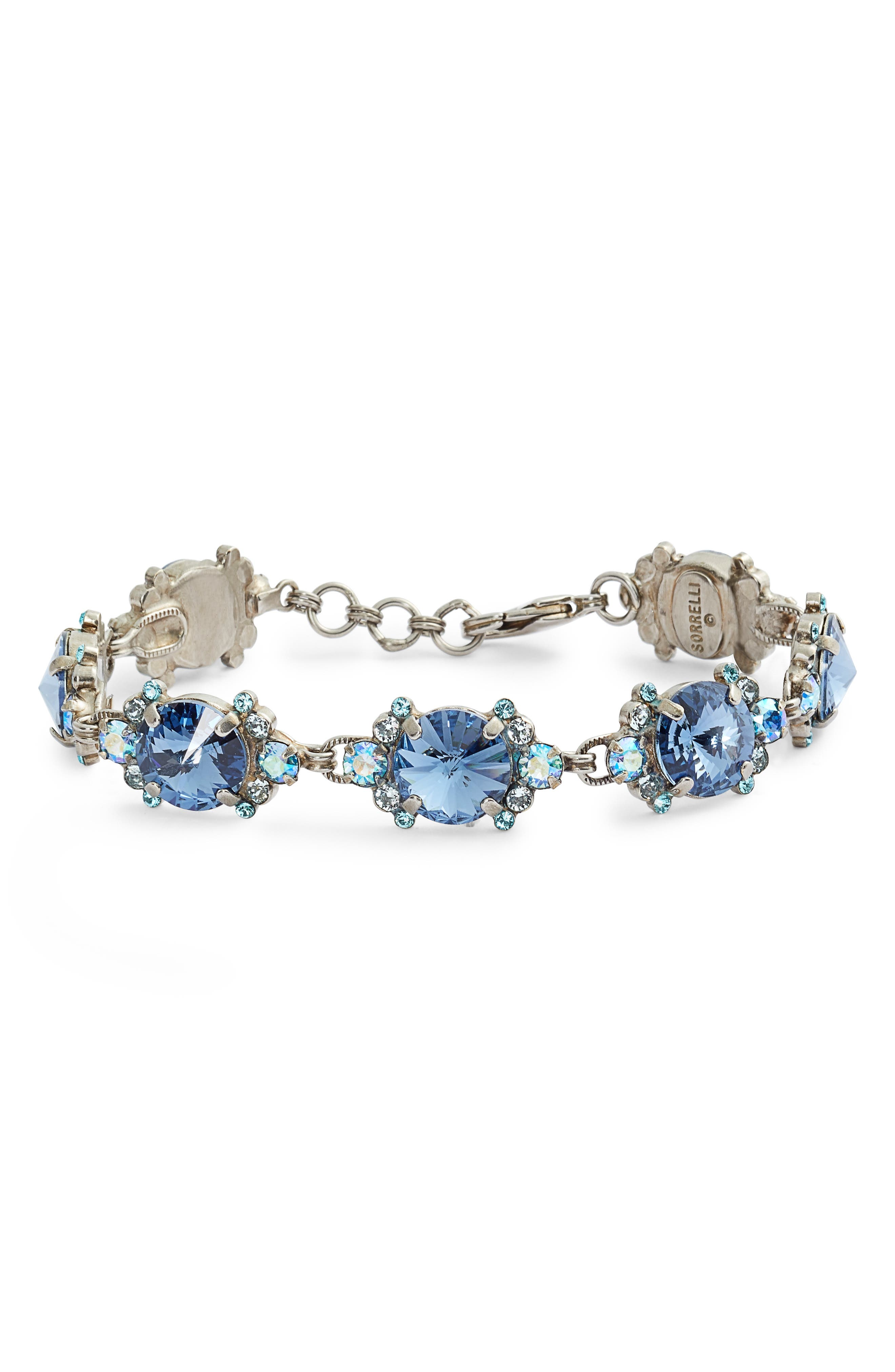 SORRELLI Round Halo Crystal Bracelet in Blue
