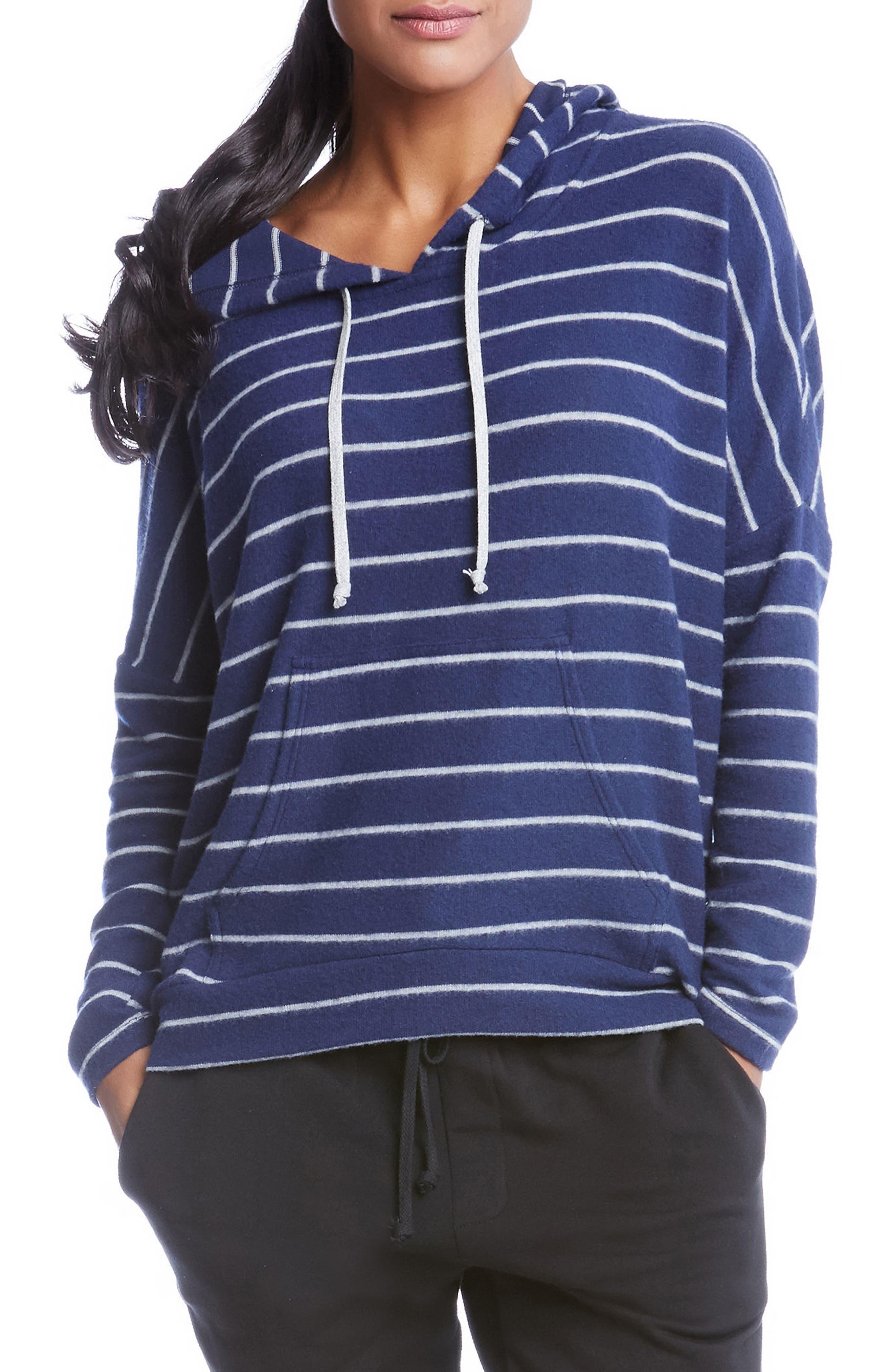 Stripe High/Low Hoodie,                         Main,                         color, 089