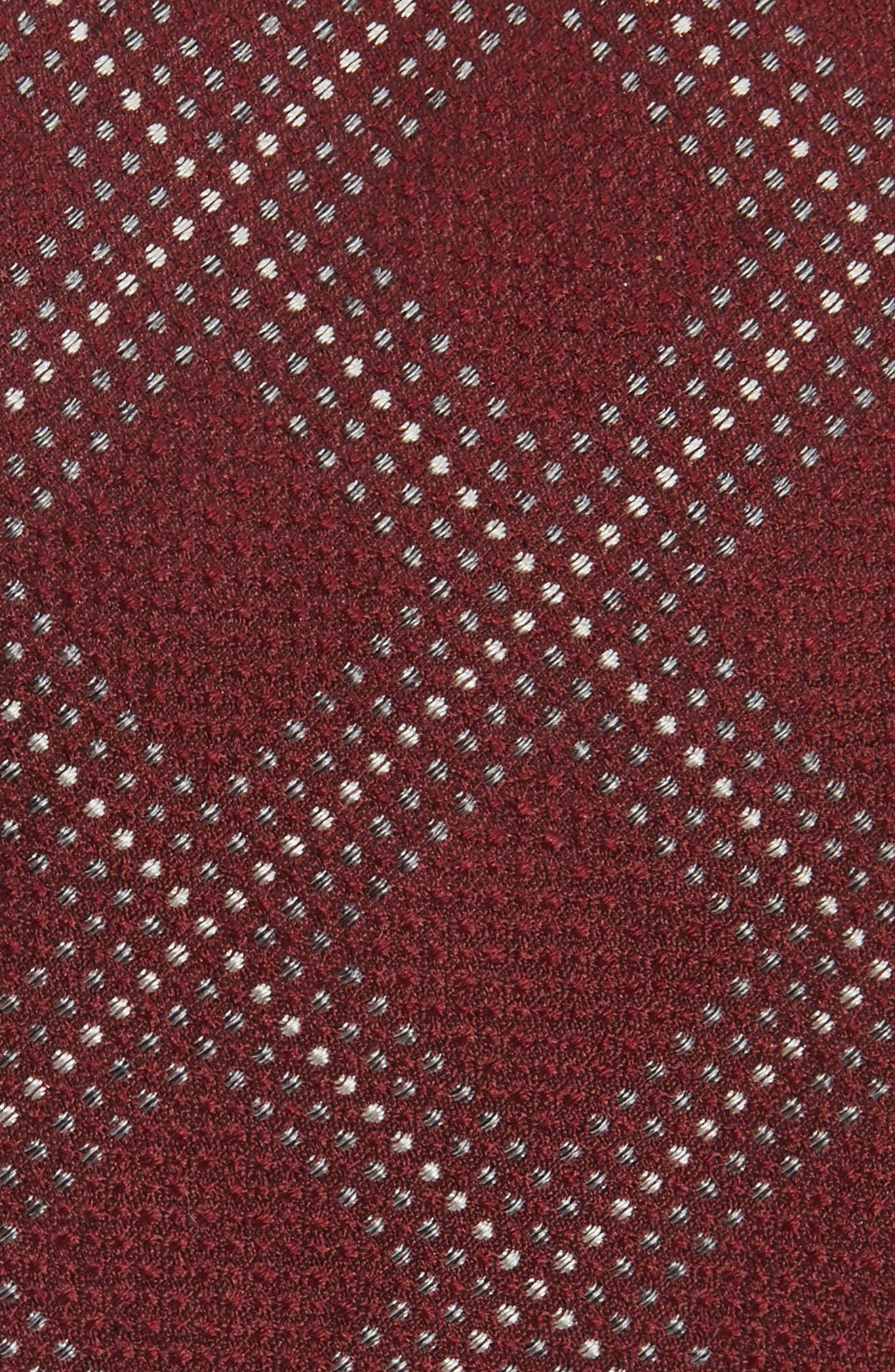 Grid Silk Blend Tie,                             Alternate thumbnail 6, color,