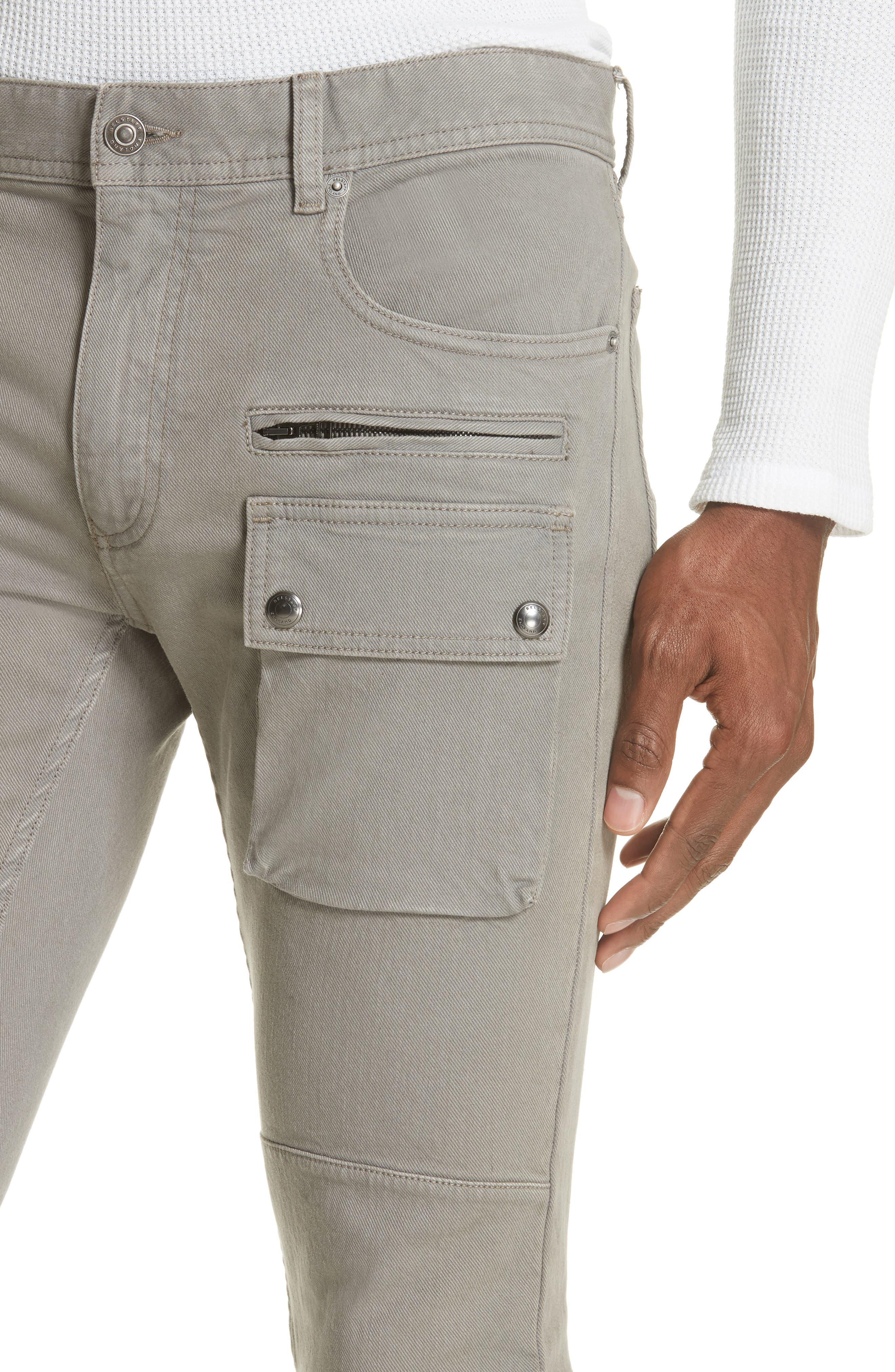 Polmont Cargo Denim Jeans,                             Alternate thumbnail 4, color,                             SMOKE GREY