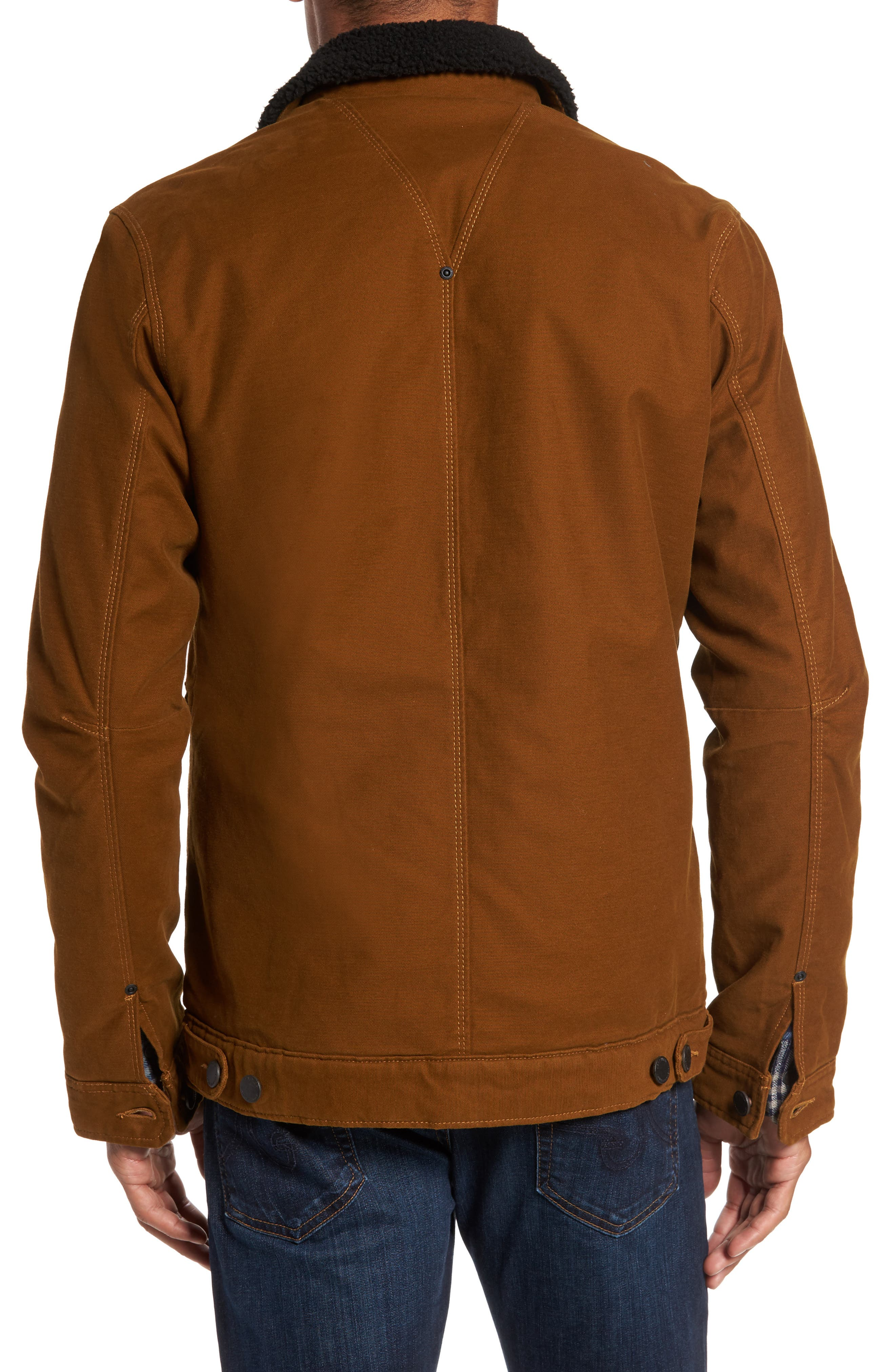Terra Broken Twill Jacket with Faux Shearling Trim,                             Alternate thumbnail 2, color,
