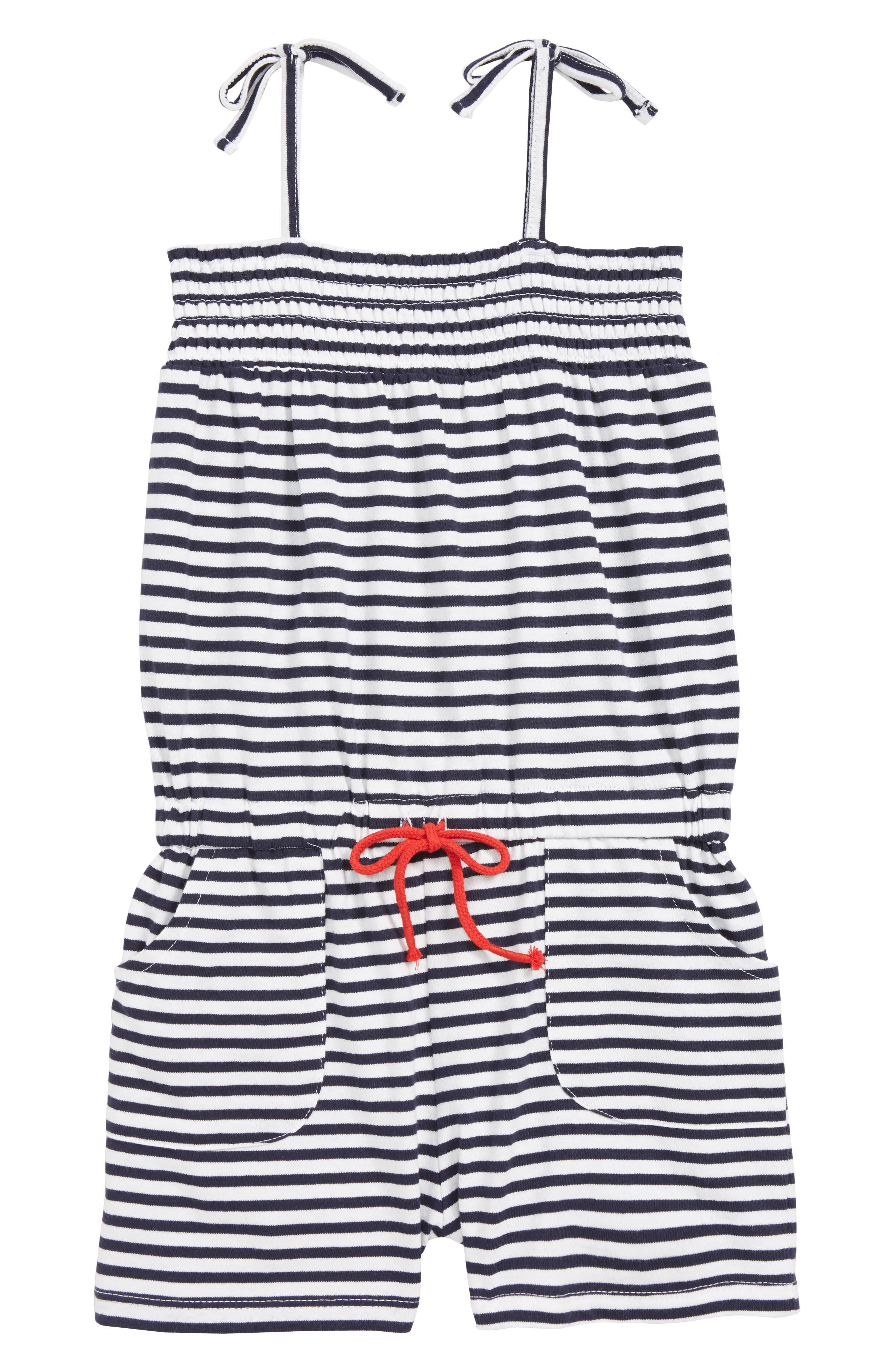 Toddler Girls Seed Heritage Stripe Jersey Romper Size 3  Blue