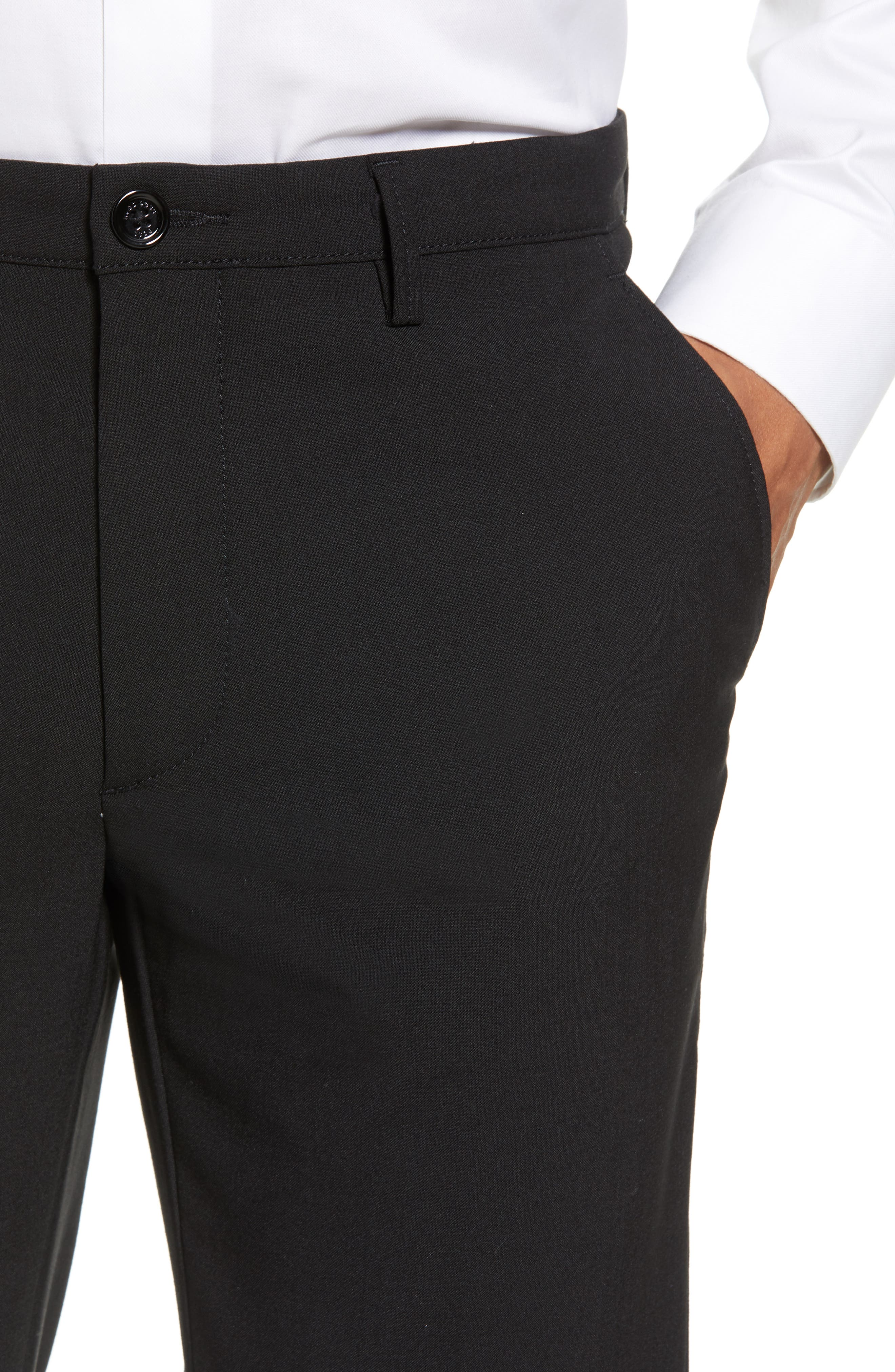 Kaito Slim Fit Trousers,                             Alternate thumbnail 4, color,                             BLACK