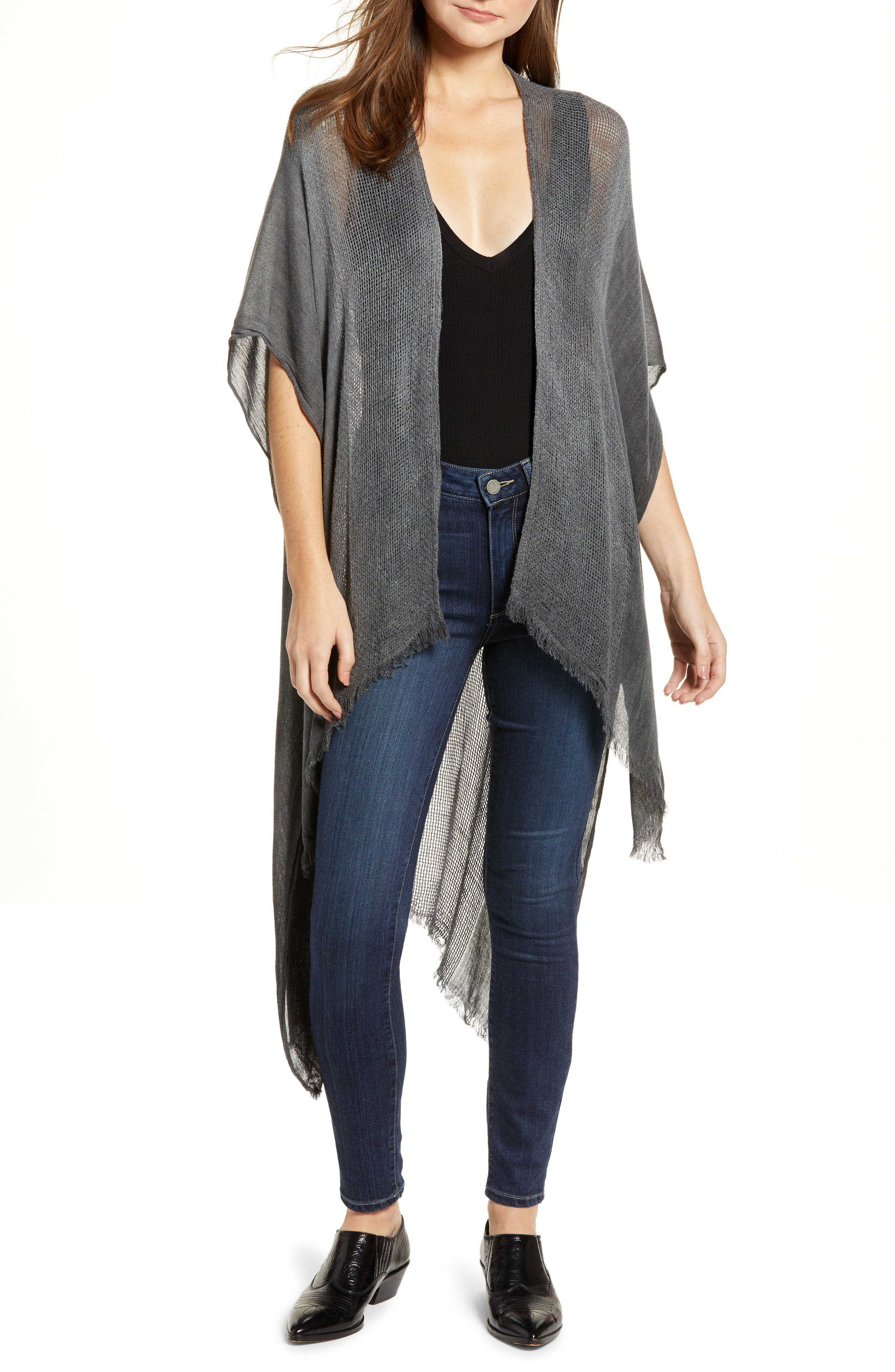 Day Dream Kimono,                         Main,                         color, BLACK