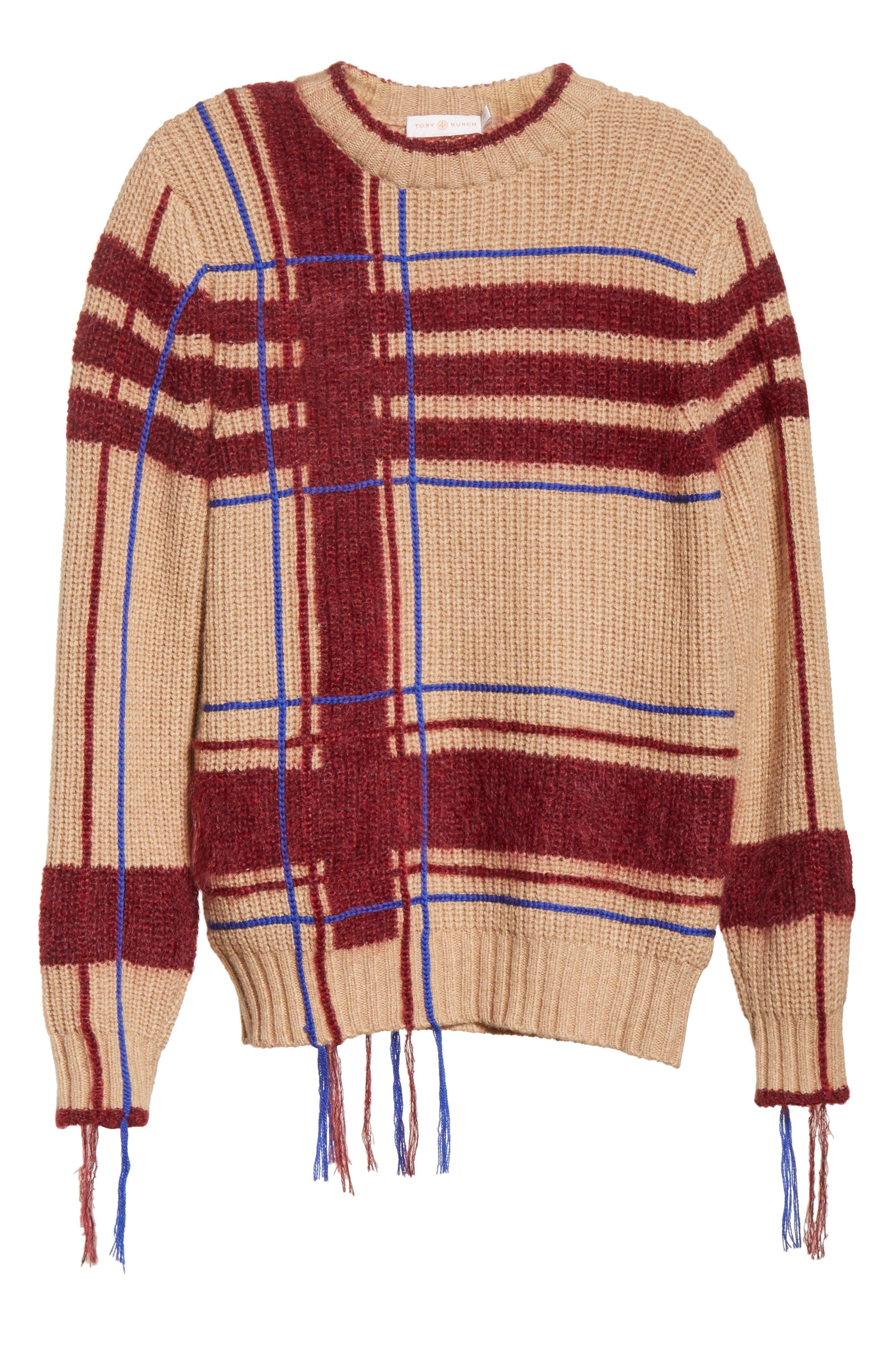 Eden Plaid Sweater,                             Alternate thumbnail 6, color,                             250