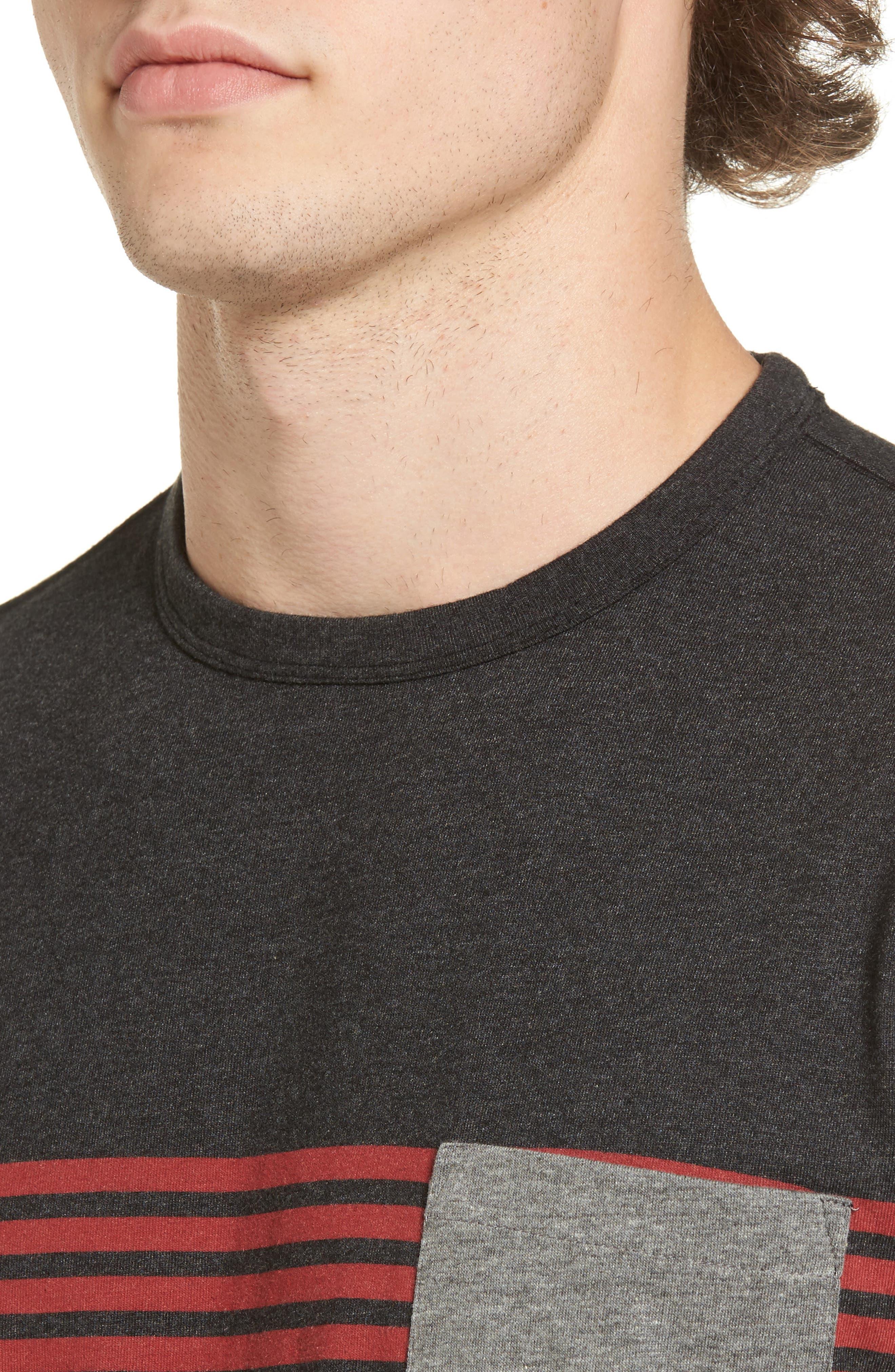 Rodgers Striped Pocket T-Shirt,                             Alternate thumbnail 4, color,                             001