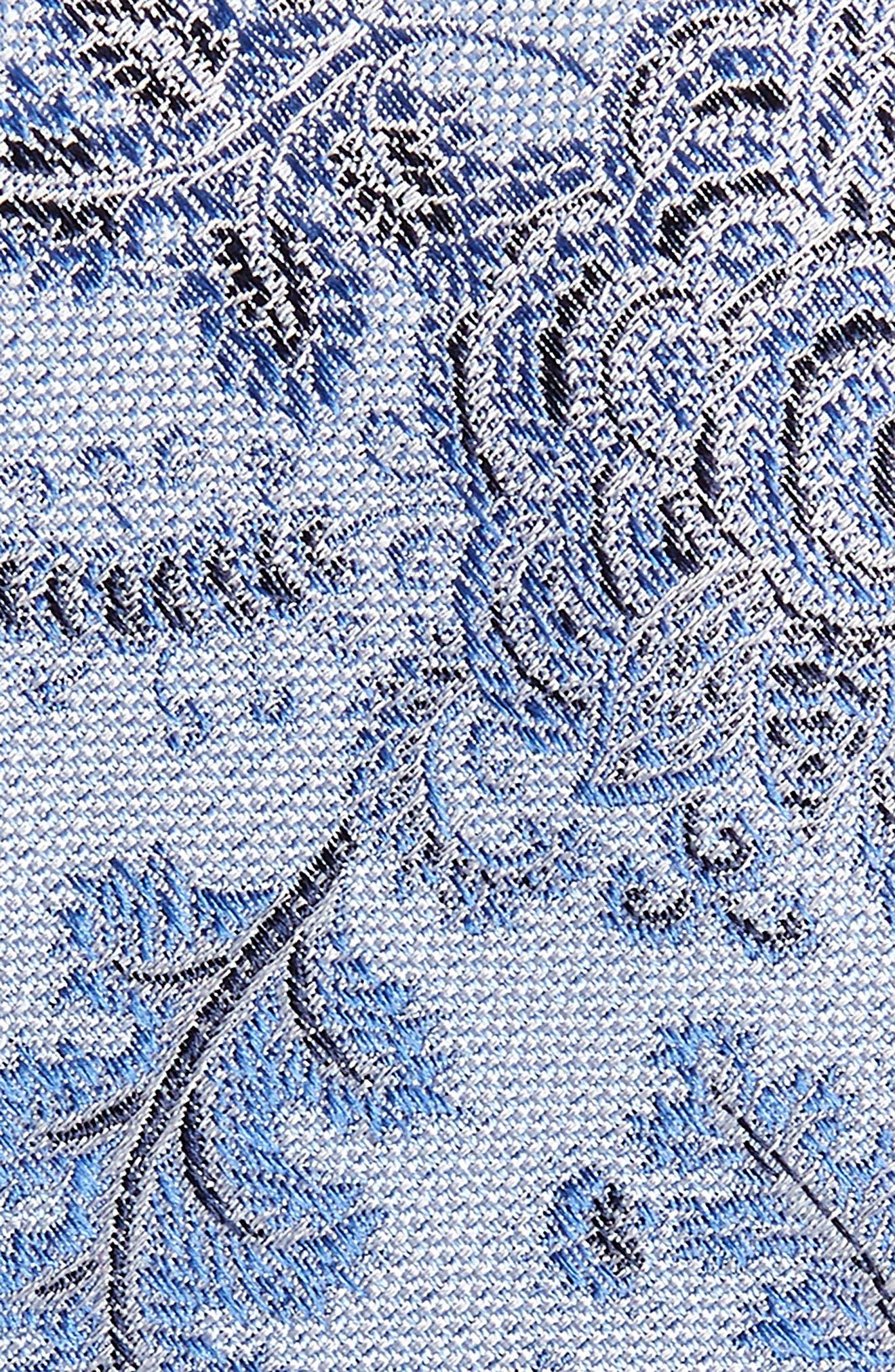 Trevis Floral Silk & Cotton Tie,                             Alternate thumbnail 4, color,