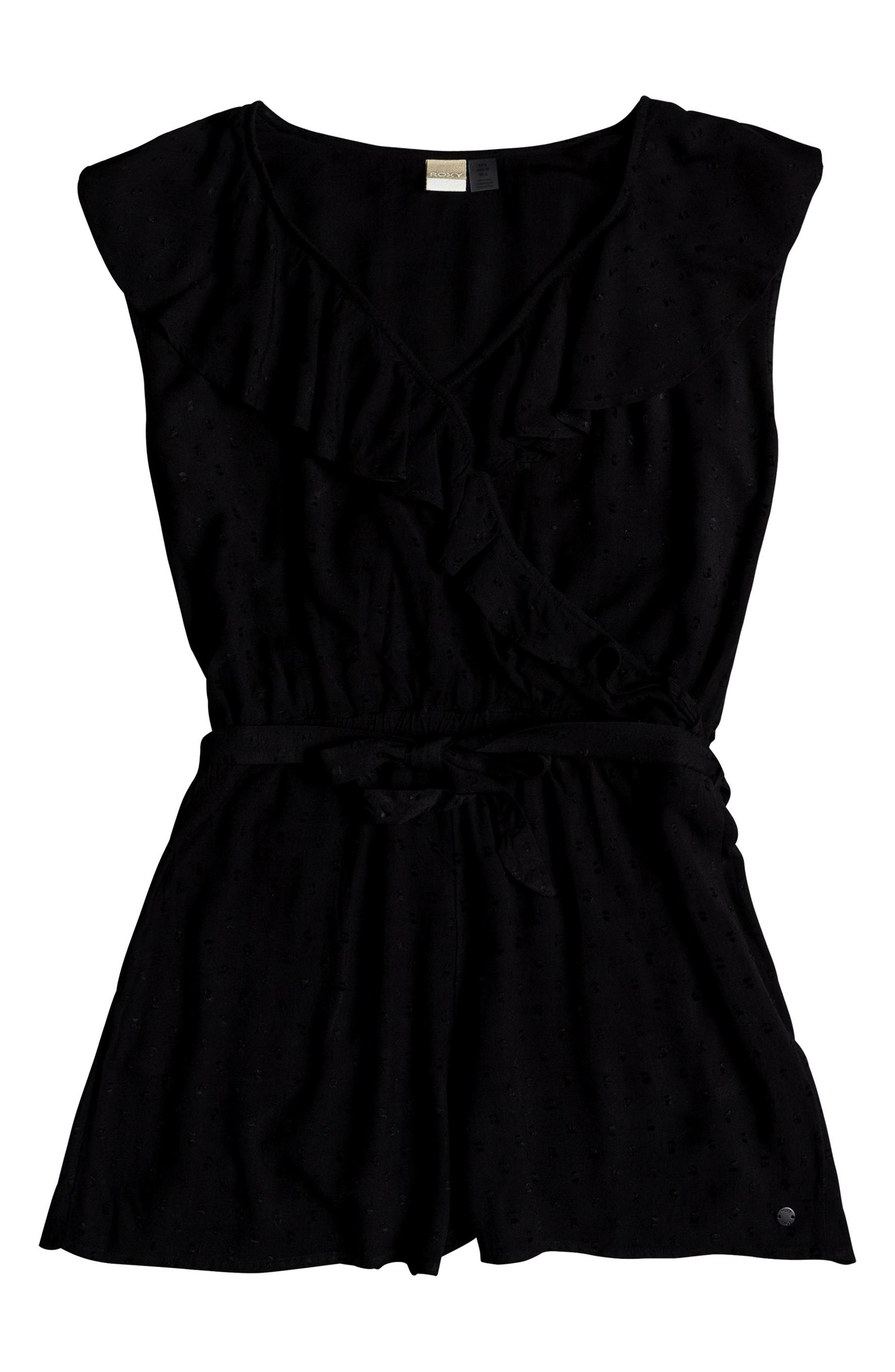 Cool Your Heart Romper,                             Alternate thumbnail 3, color,                             TRUE BLACK