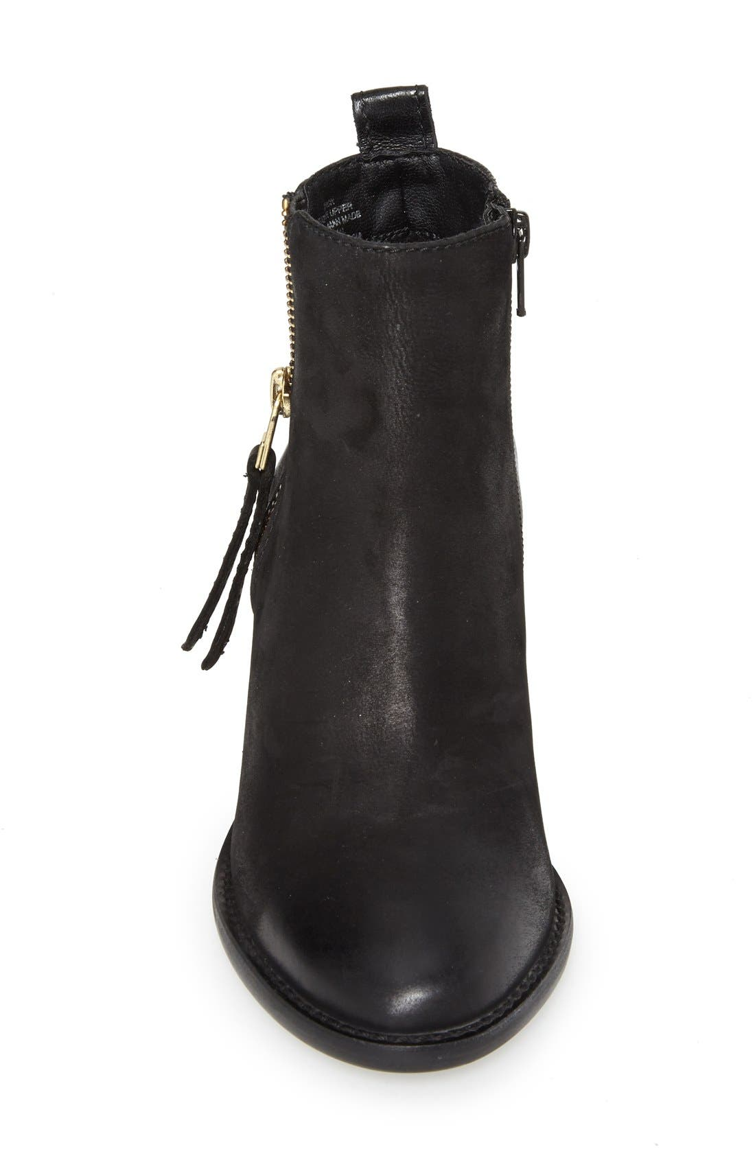 'Wantagh' Leather Ankle Boot,                             Alternate thumbnail 4, color,                             001