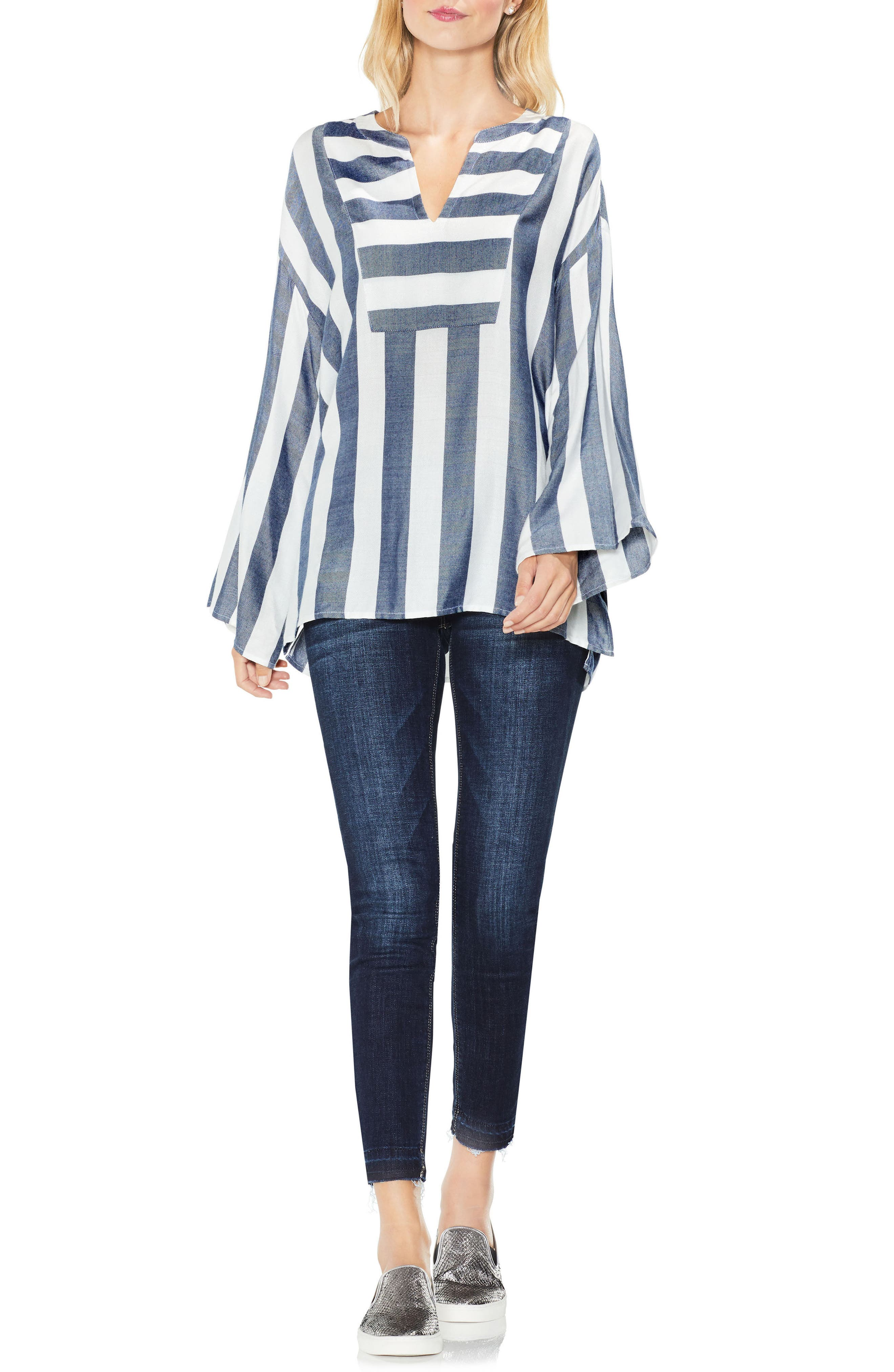 Bell Sleeve Top,                             Alternate thumbnail 4, color,                             453