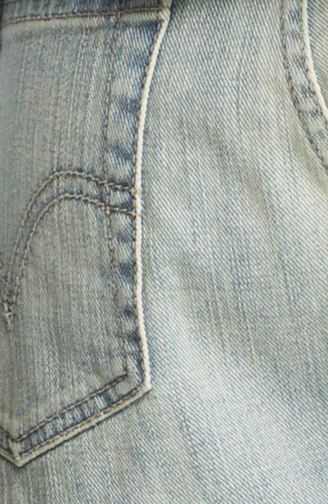 LEVI'S<SUP>®</SUP>,                             Destroyed High Waisted High/Low Denim Cutoffs,                             Alternate thumbnail 2, color,                             400