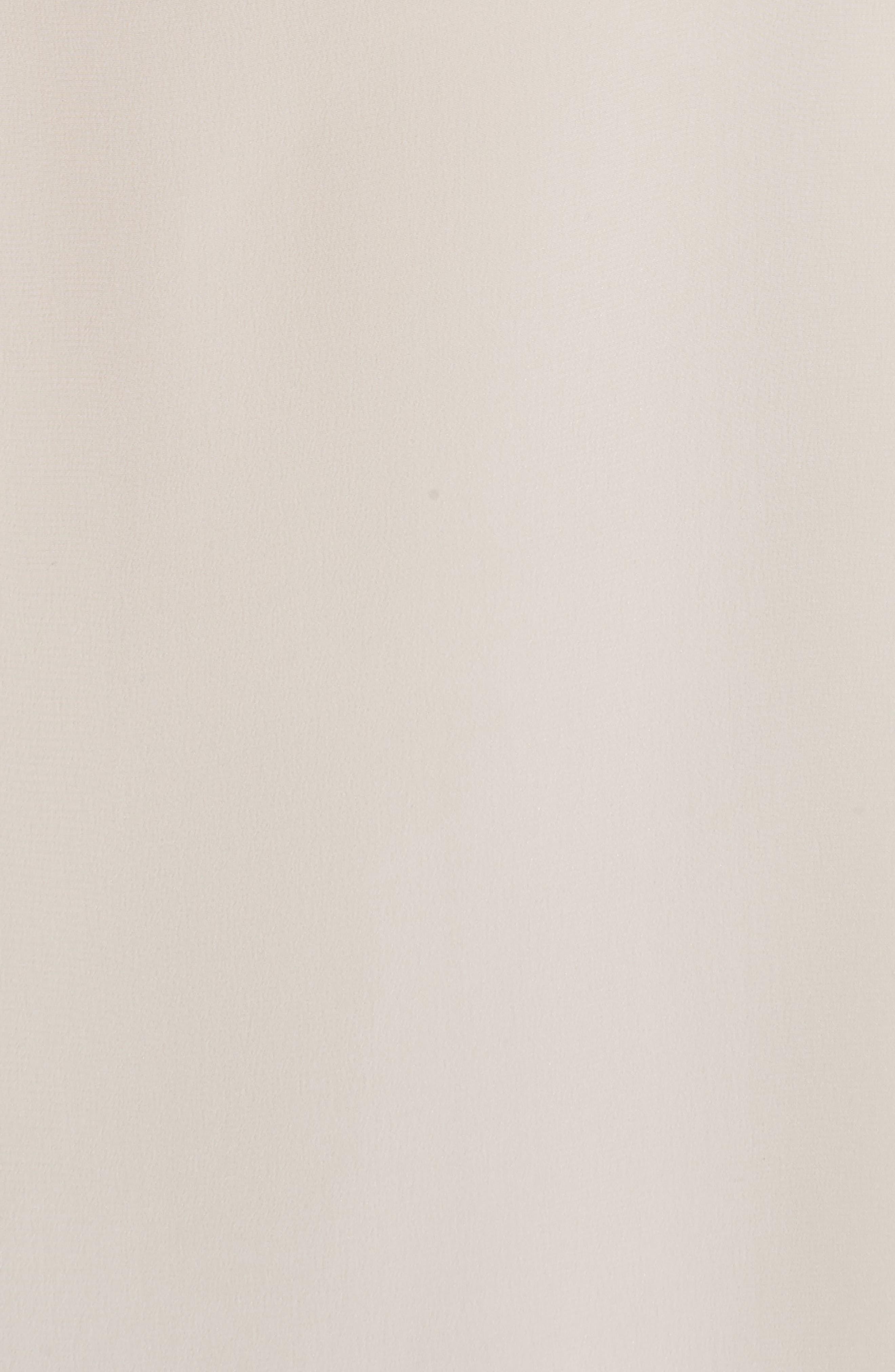 Scarf Neck Silk Crêpe de Chine Blouse,                             Alternate thumbnail 5, color,                             WHITE