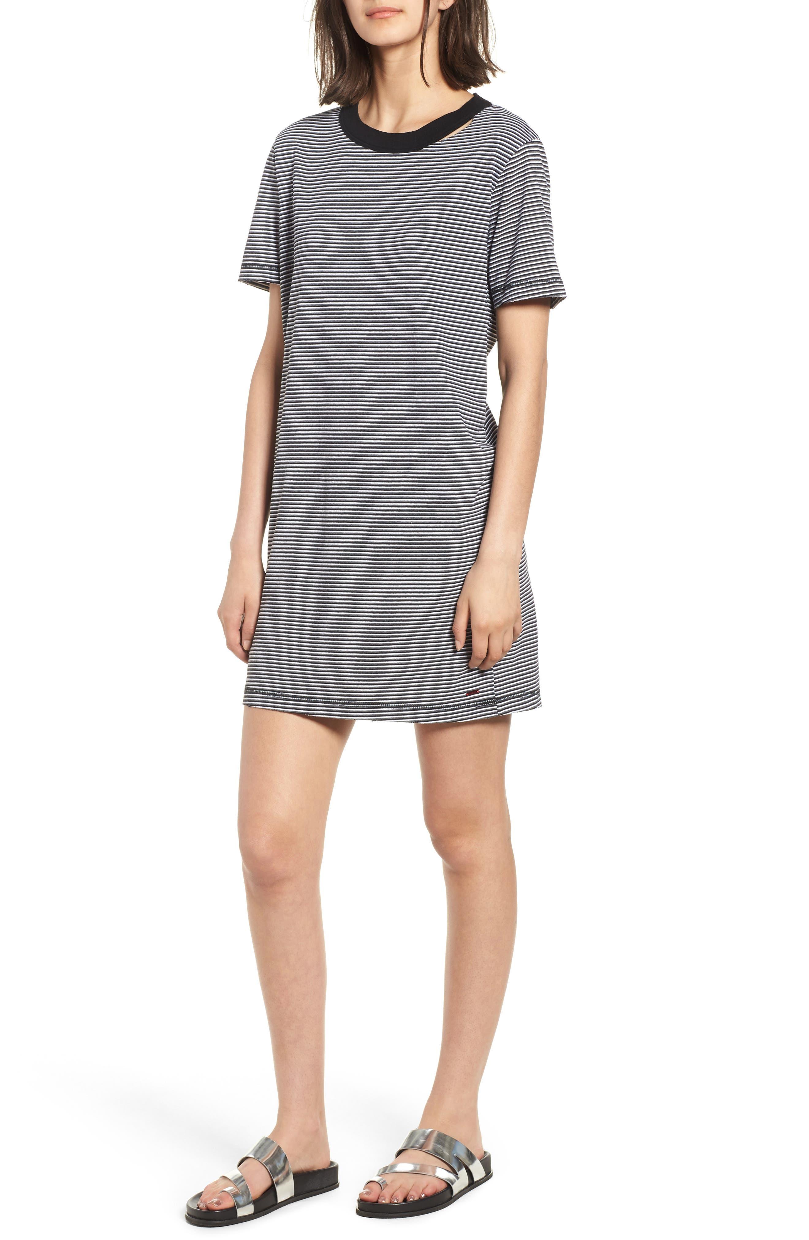 Azul Ringer Stripe T-Shirt Dress,                             Main thumbnail 1, color,                             400