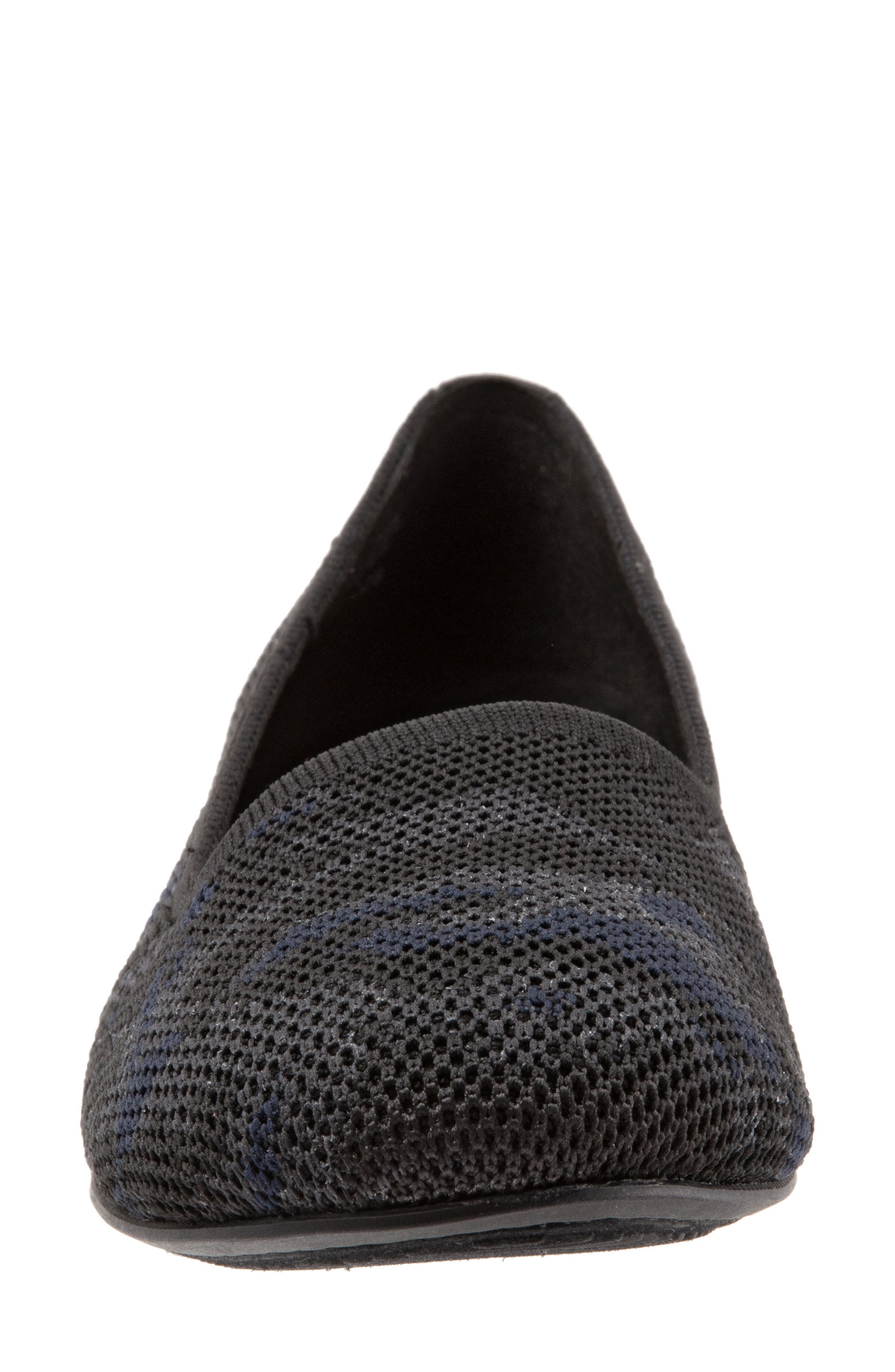 SOFTWALK<SUP>®</SUP>,                             Sicily Knit Flat,                             Alternate thumbnail 4, color,                             BLACK/ GREY FABRIC
