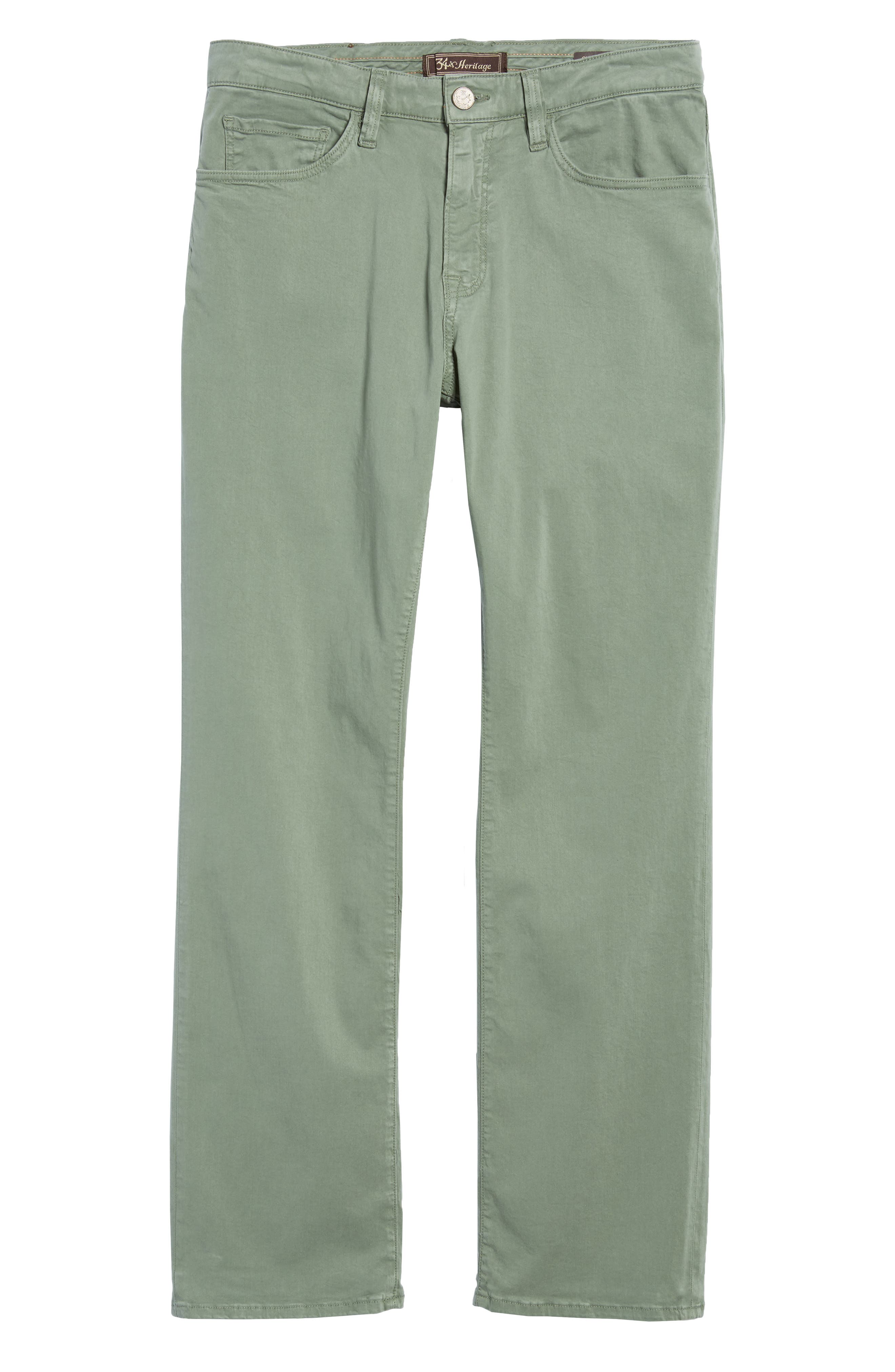 34 HERITAGE,                             Charisma Relaxed Fit Twill Pants,                             Alternate thumbnail 6, color,                             MOSS TWILL