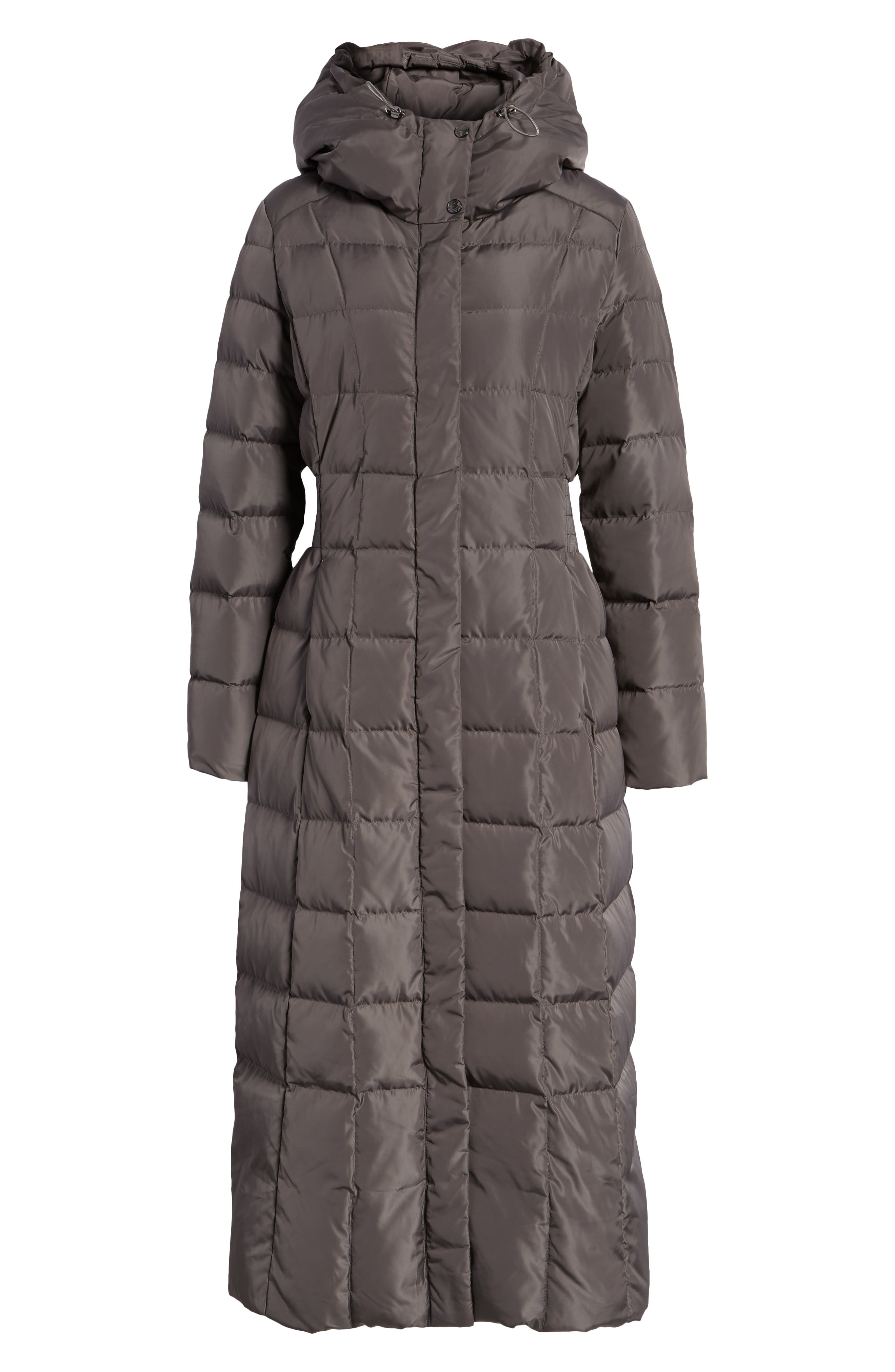 Cole Haan Quilted Coat with Inner Bib,                             Alternate thumbnail 6, color,                             024