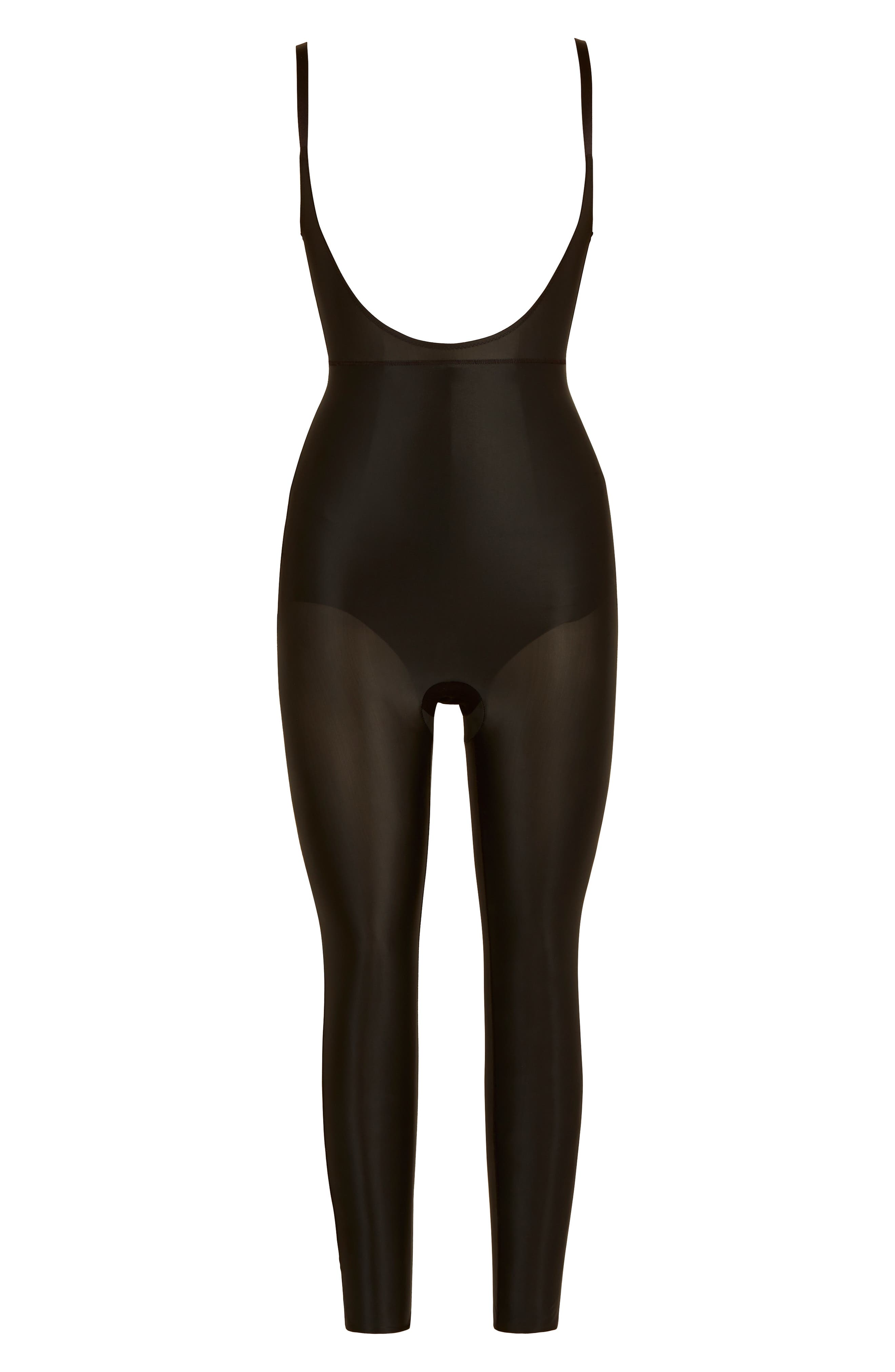 SPANX<SUP>®</SUP>,                             Suit Your Fancy Open-Bust Shaper Catsuit,                             Alternate thumbnail 4, color,                             VERY BLACK