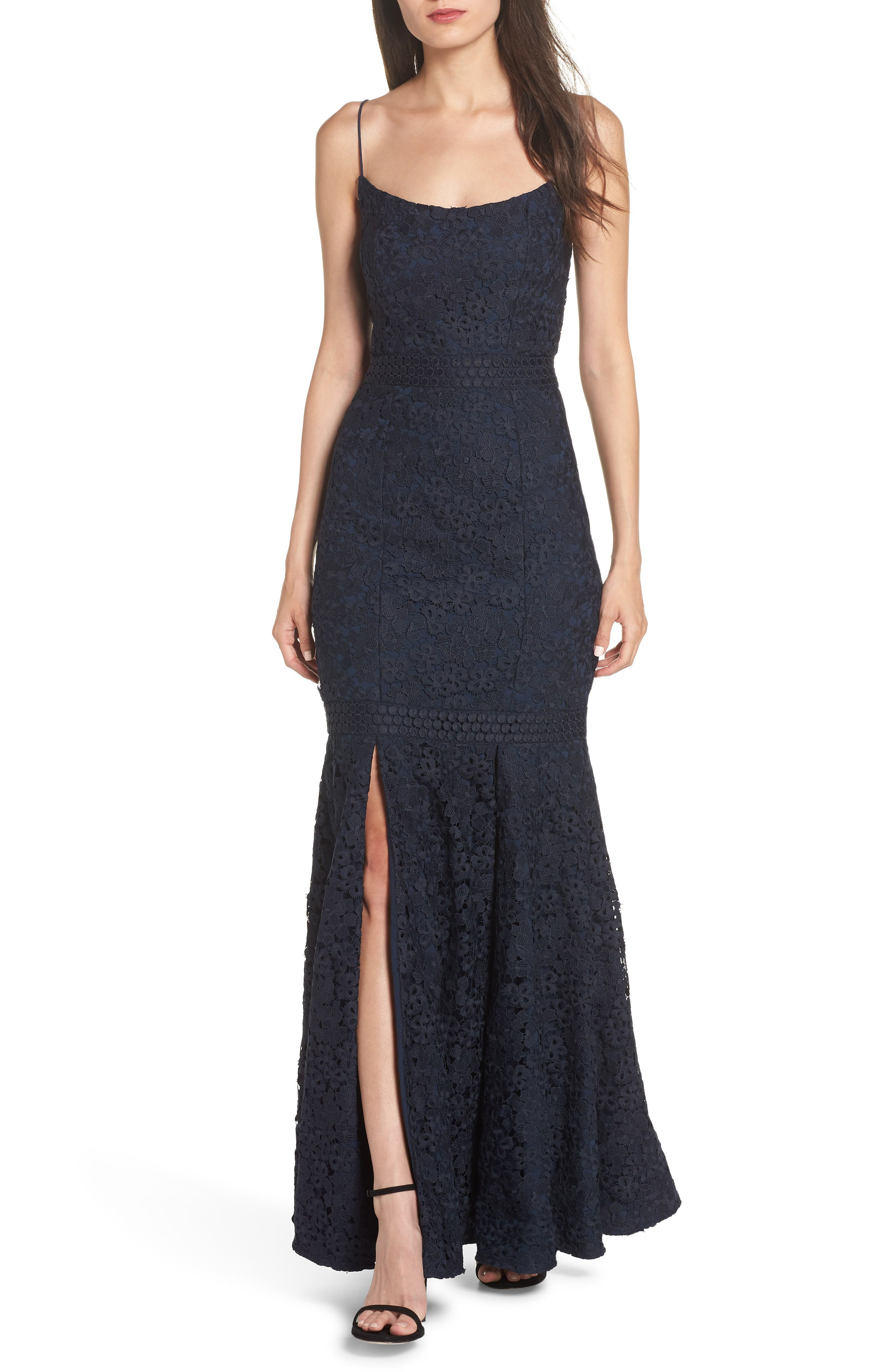Keepsake The Label Utopia Lace Gown, Blue