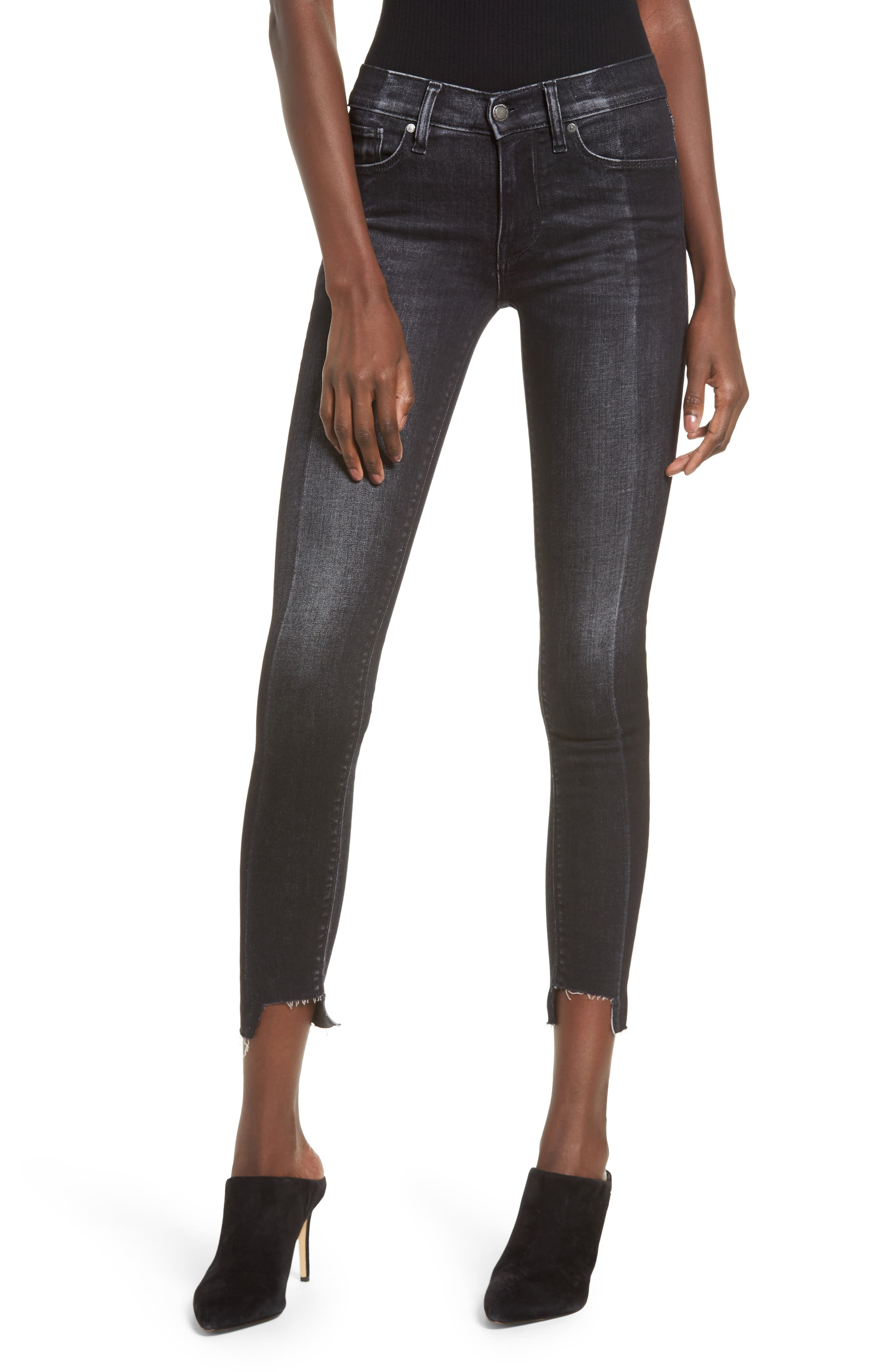 Nico Step Hem Crop Super Skinny Jeans,                             Main thumbnail 1, color,                             020