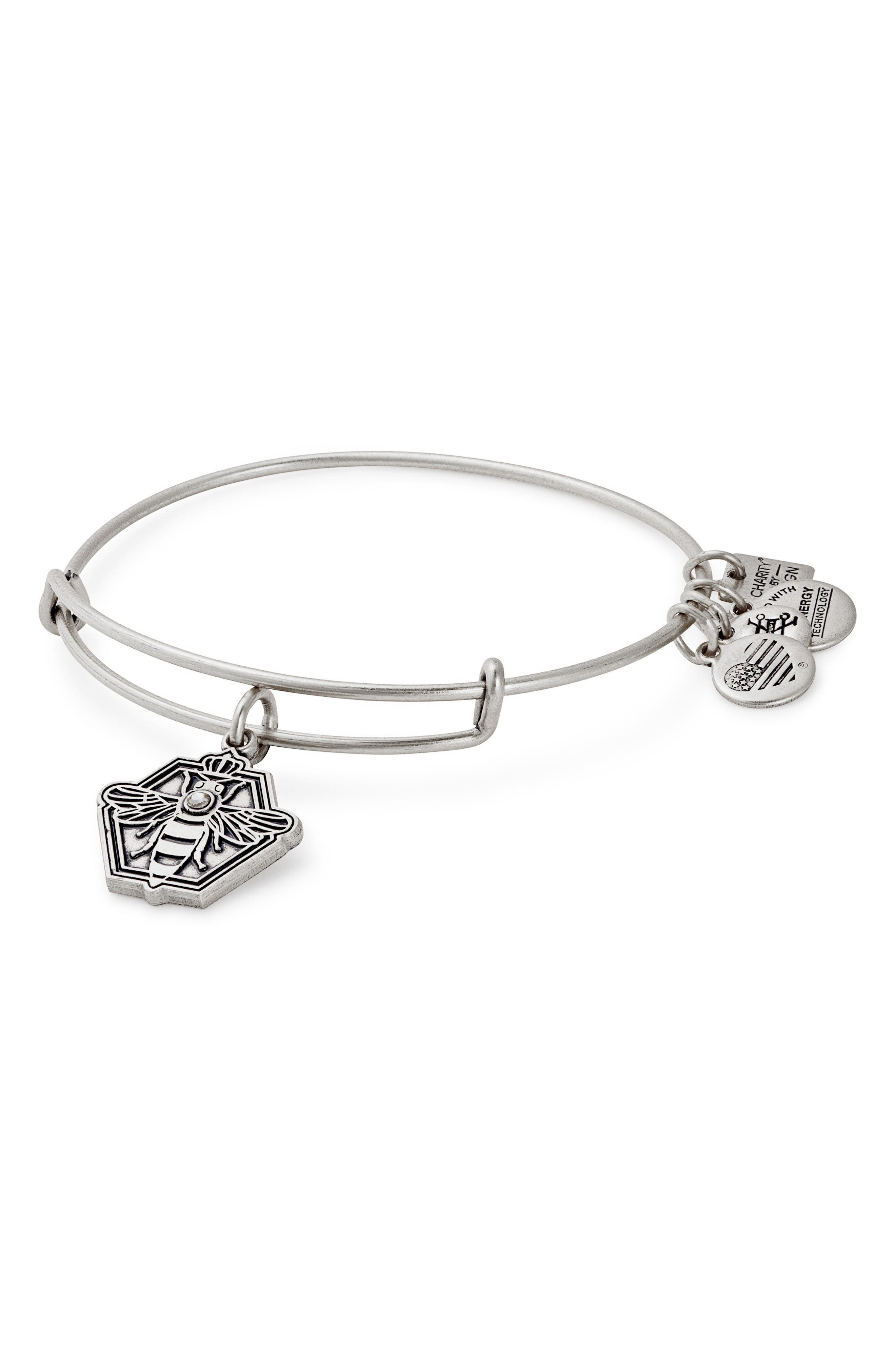 Charity by Design Queen Bee Adjustable Bangle,                             Main thumbnail 1, color,