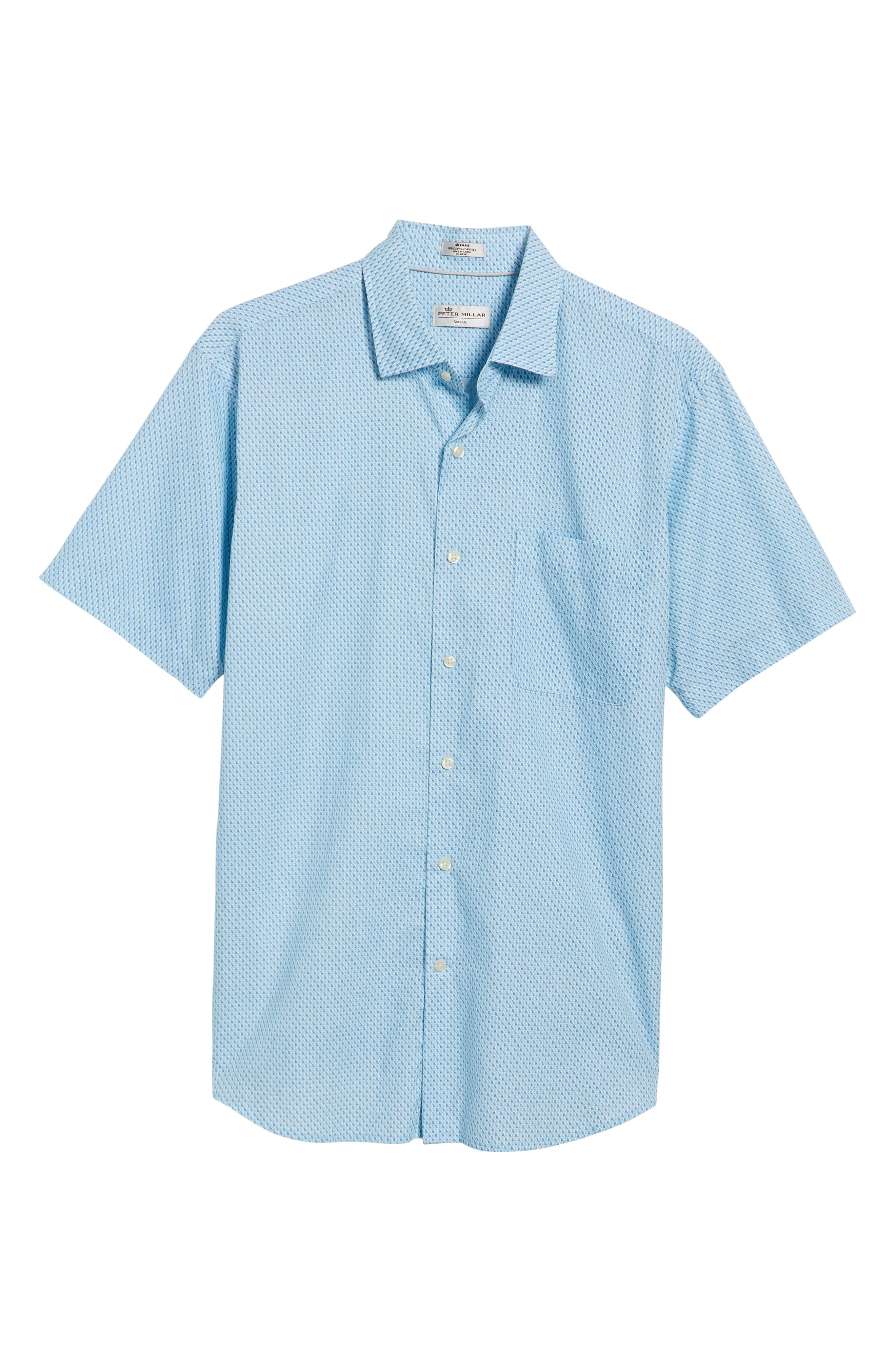 Sail Away Regular Fit Cotton & Silk Sport Shirt,                             Alternate thumbnail 6, color,                             407